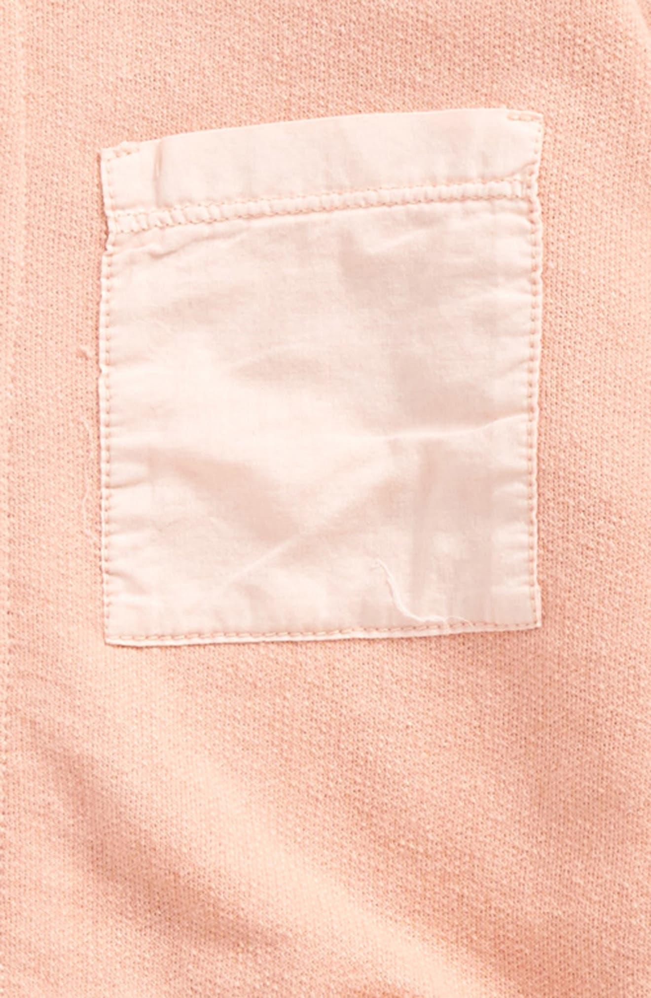 Organic Cotton Zip Jacket,                             Alternate thumbnail 3, color,                             Lobster Bisque