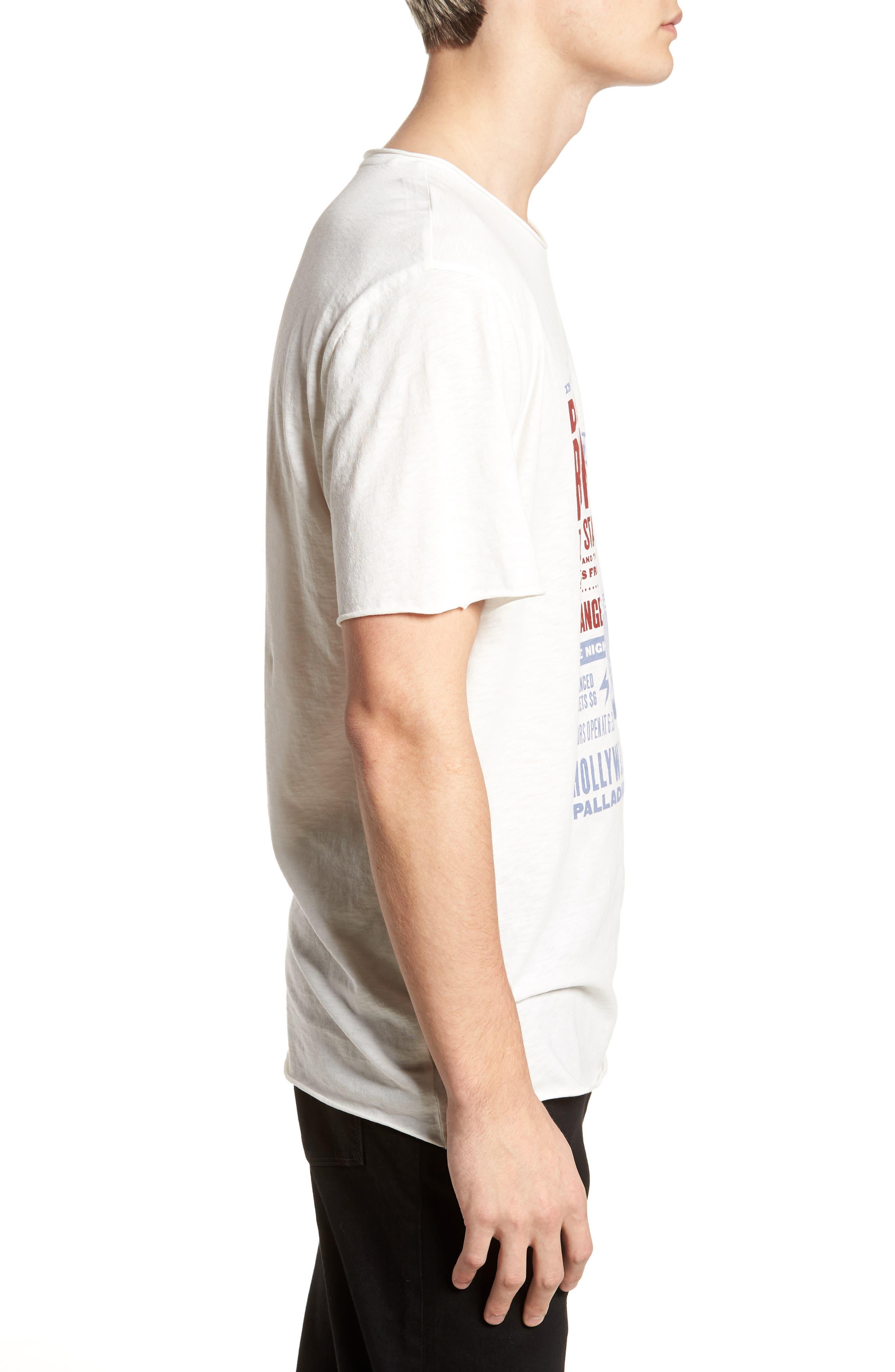 David Bowie Crewneck T-Shirt,                             Alternate thumbnail 3, color,                             Ivory David Bowie