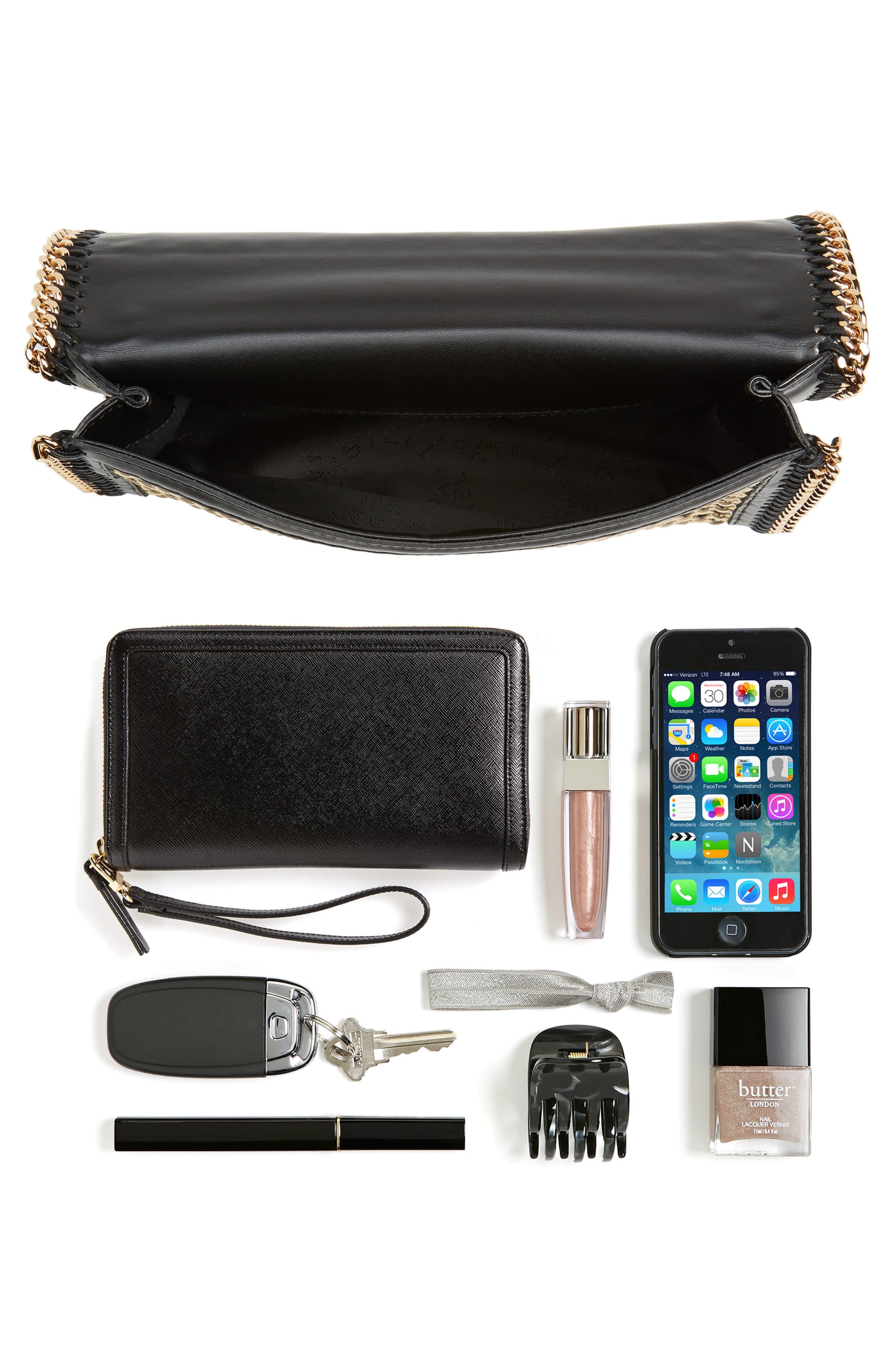 Woven Faux Leather Flap Shoulder Bag,                             Alternate thumbnail 7, color,