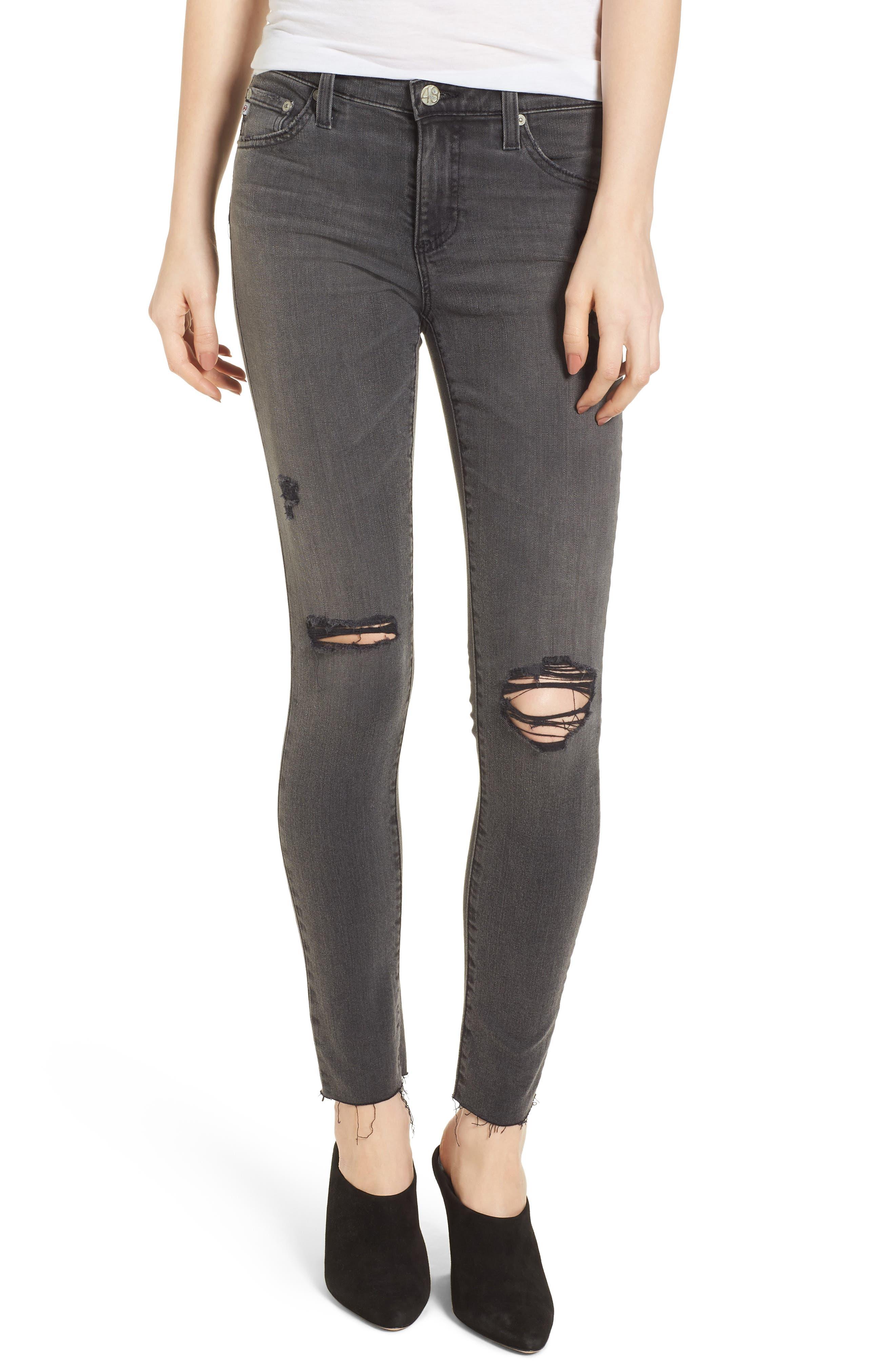 Main Image - AG The Legging Super Skinny Jeans (10 Years Stone Ash)