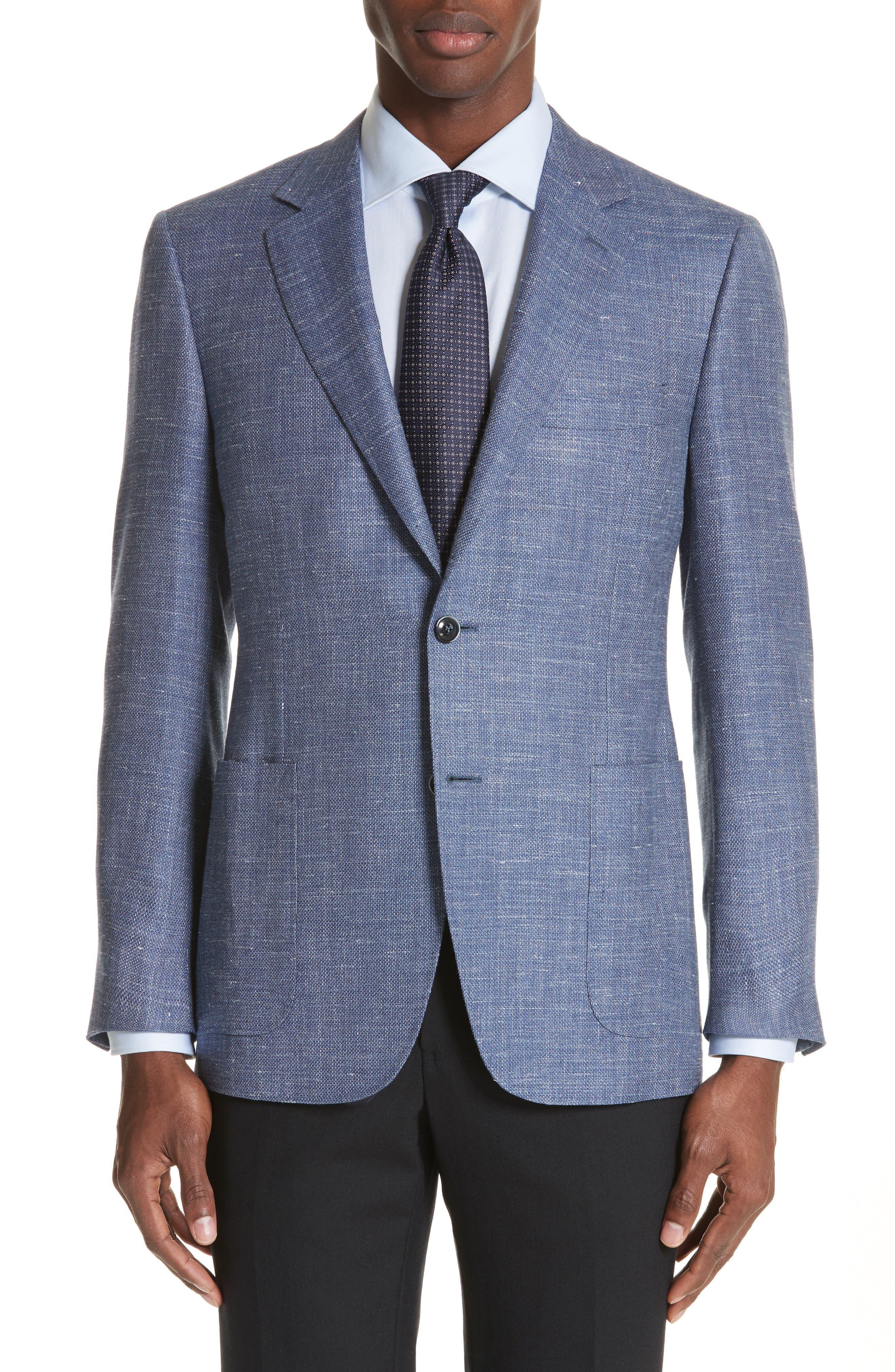 Canali Venezia Classic Fit Wool Blazer