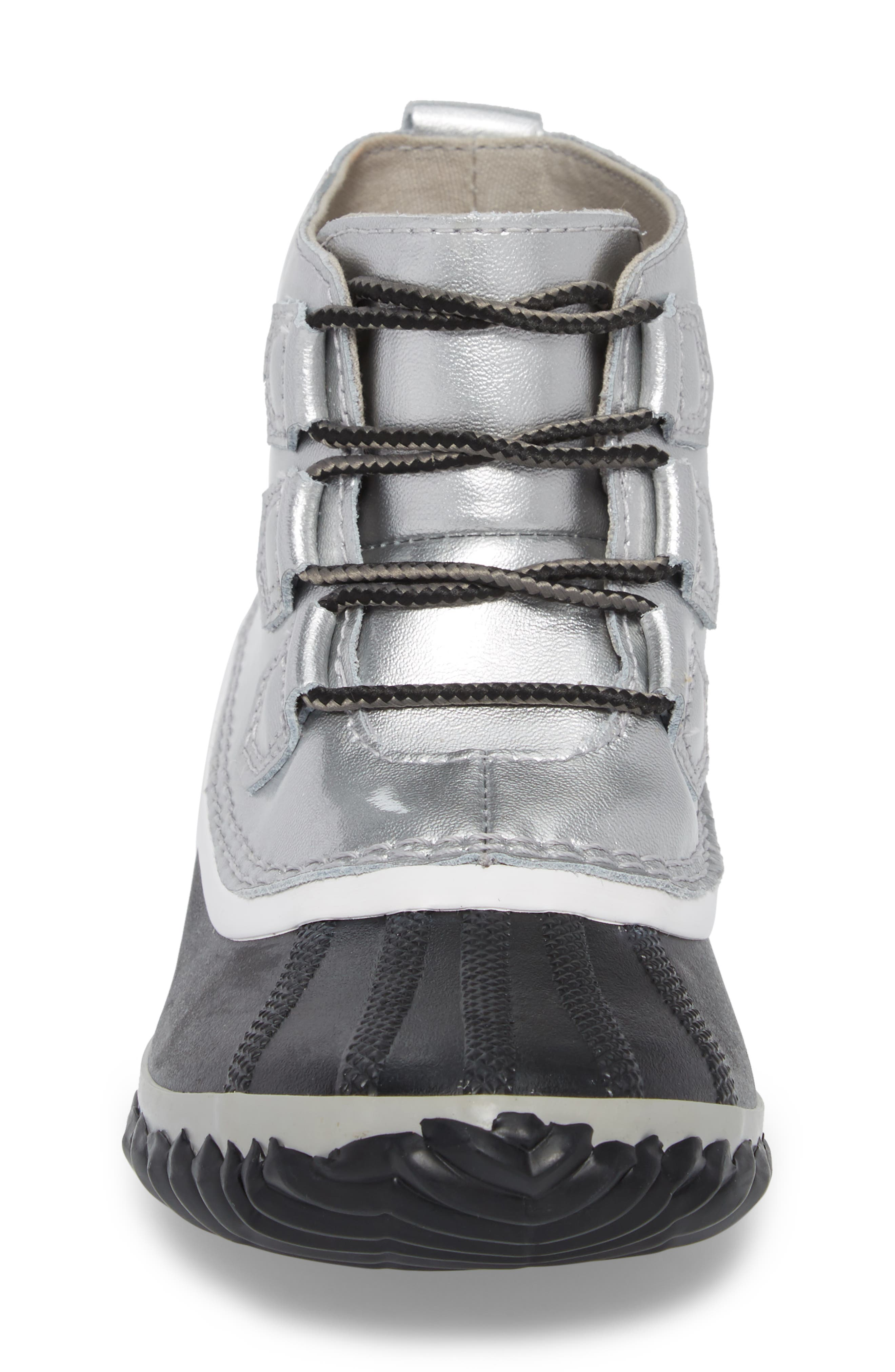 'Out N About' Leather Boot,                             Alternate thumbnail 4, color,                             Lux Black