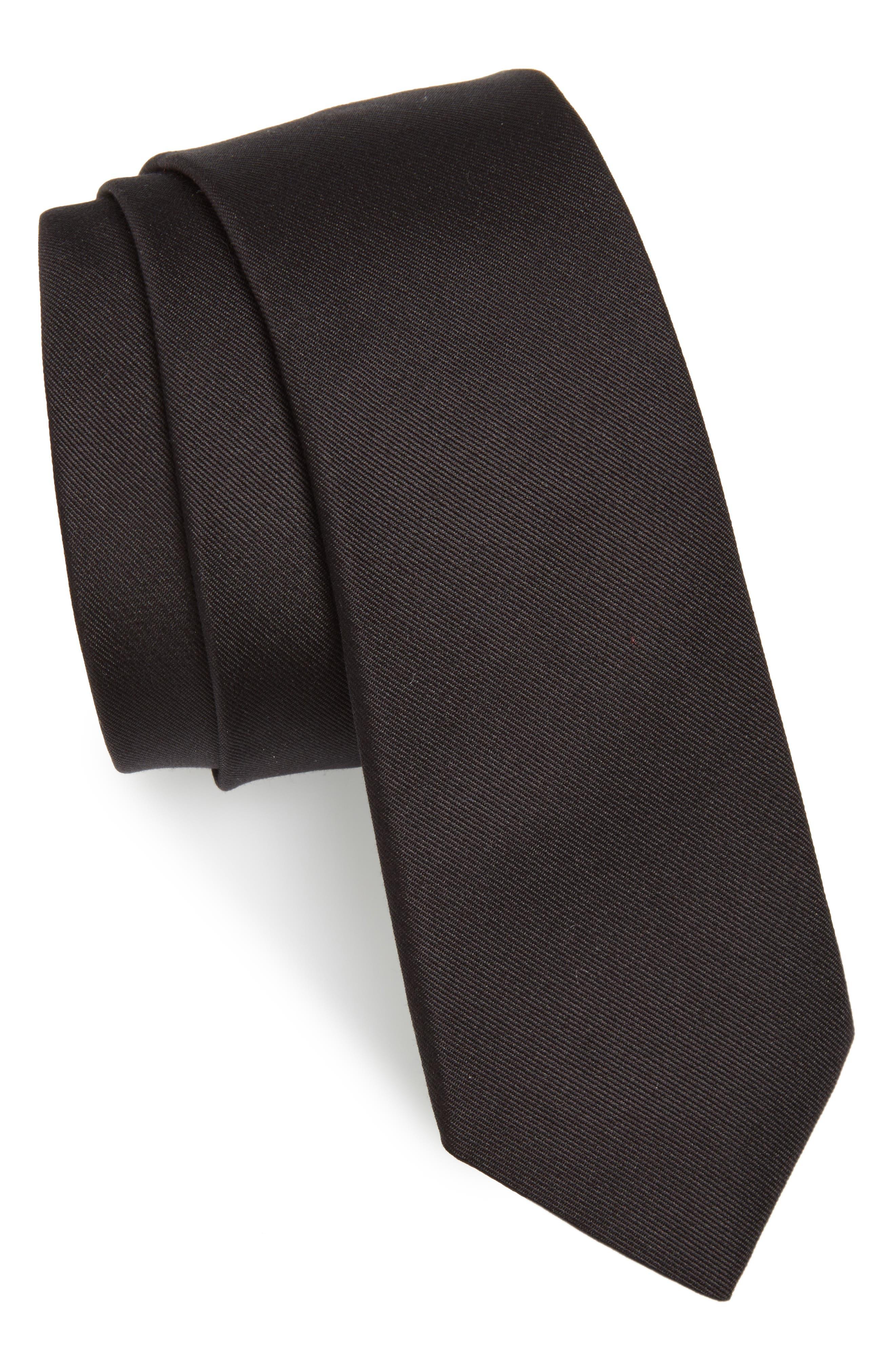 Silk Tie,                         Main,                         color, On0 Black