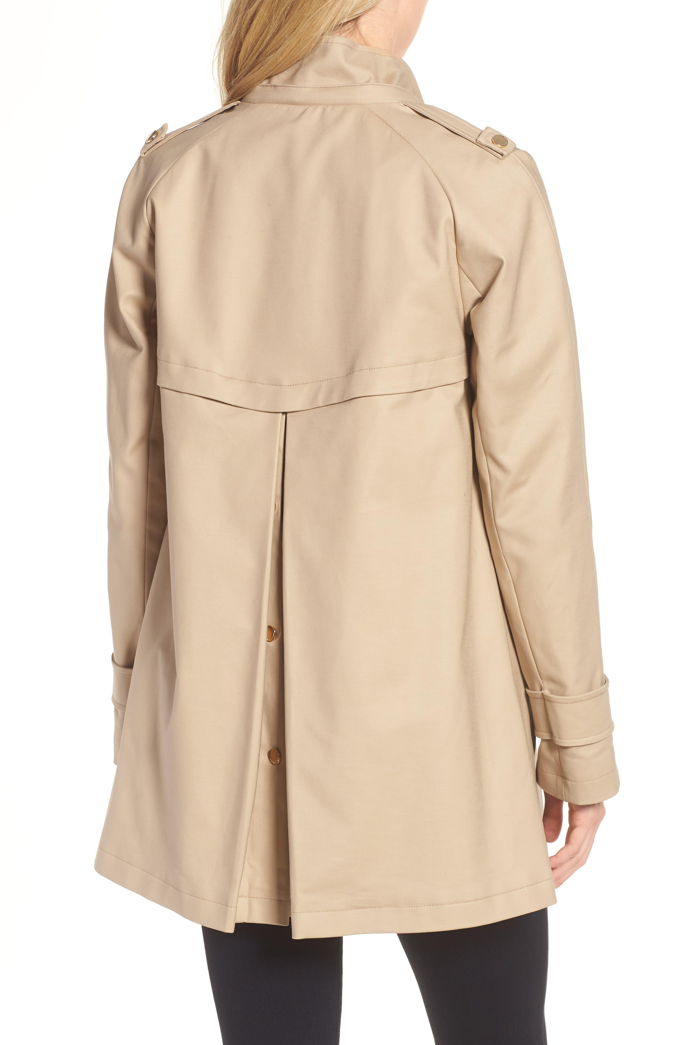 A-Line Rain Jacket,                             Alternate thumbnail 2, color,                             Khaki