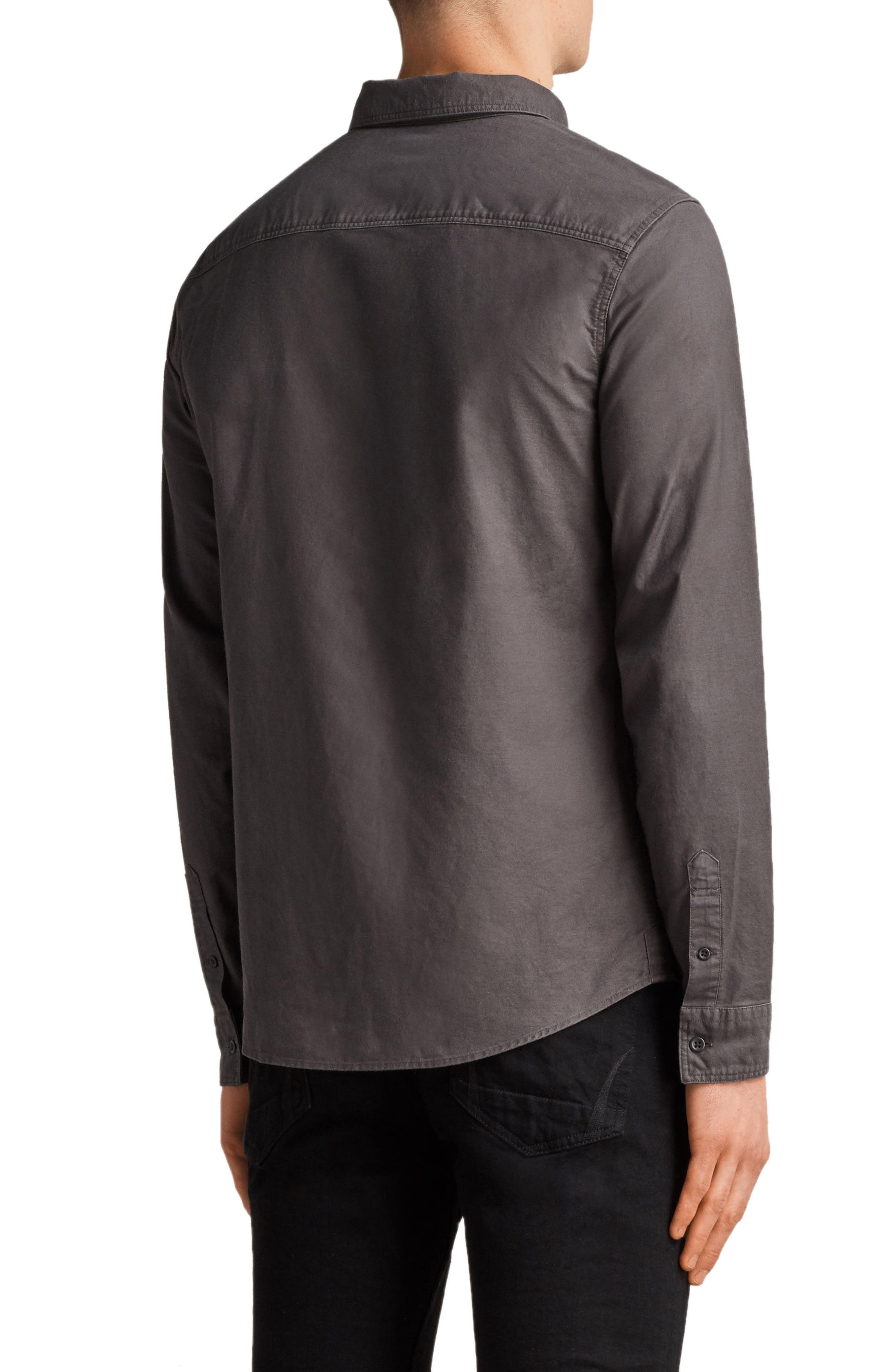 Huntington Regular Fit Sport Shirt,                             Alternate thumbnail 2, color,                             Heath Grey