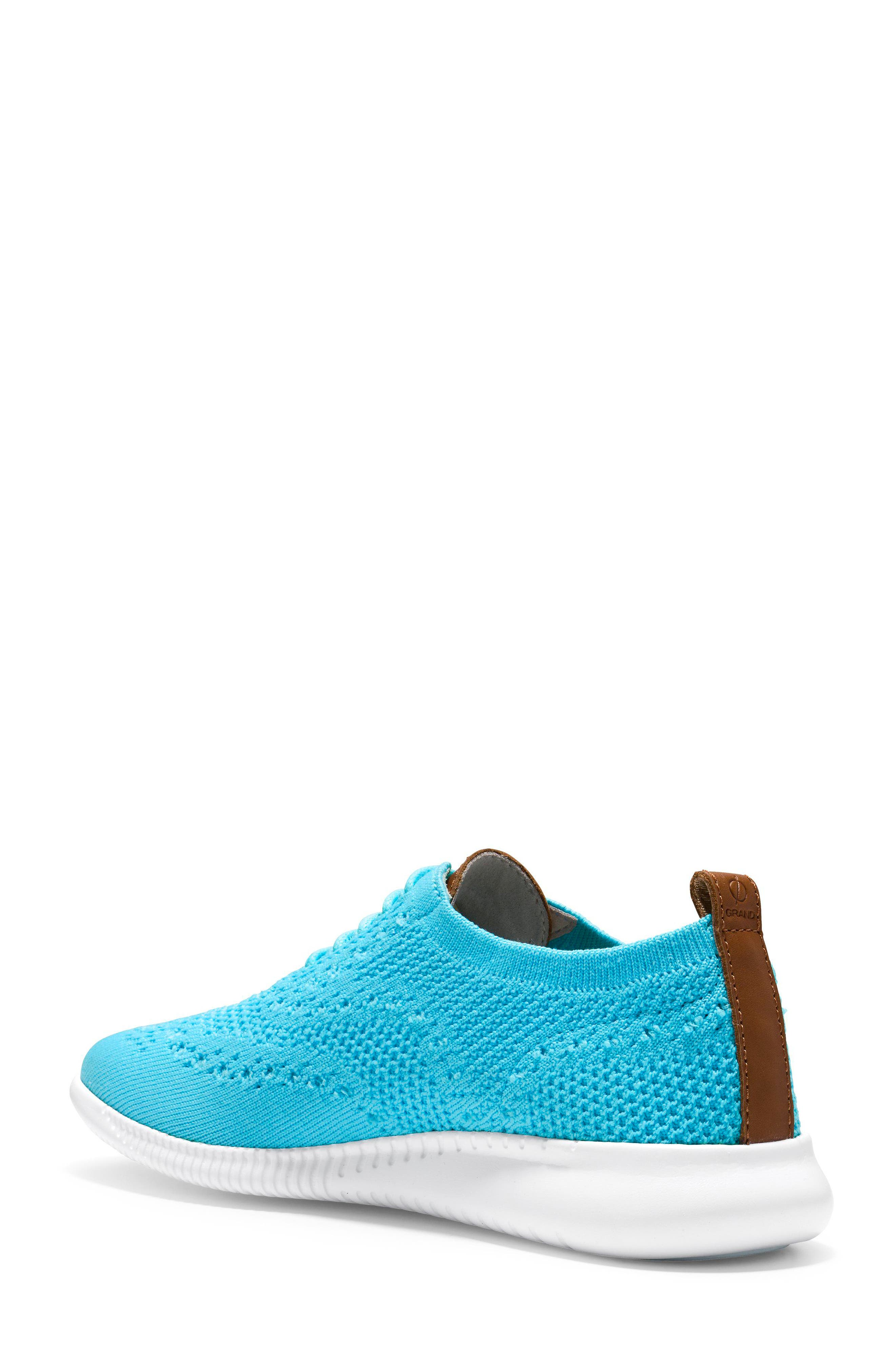 2.ZERØGRAND Stitchlite Wingtip Sneaker,                             Alternate thumbnail 2, color,                             Bluefish Fabric