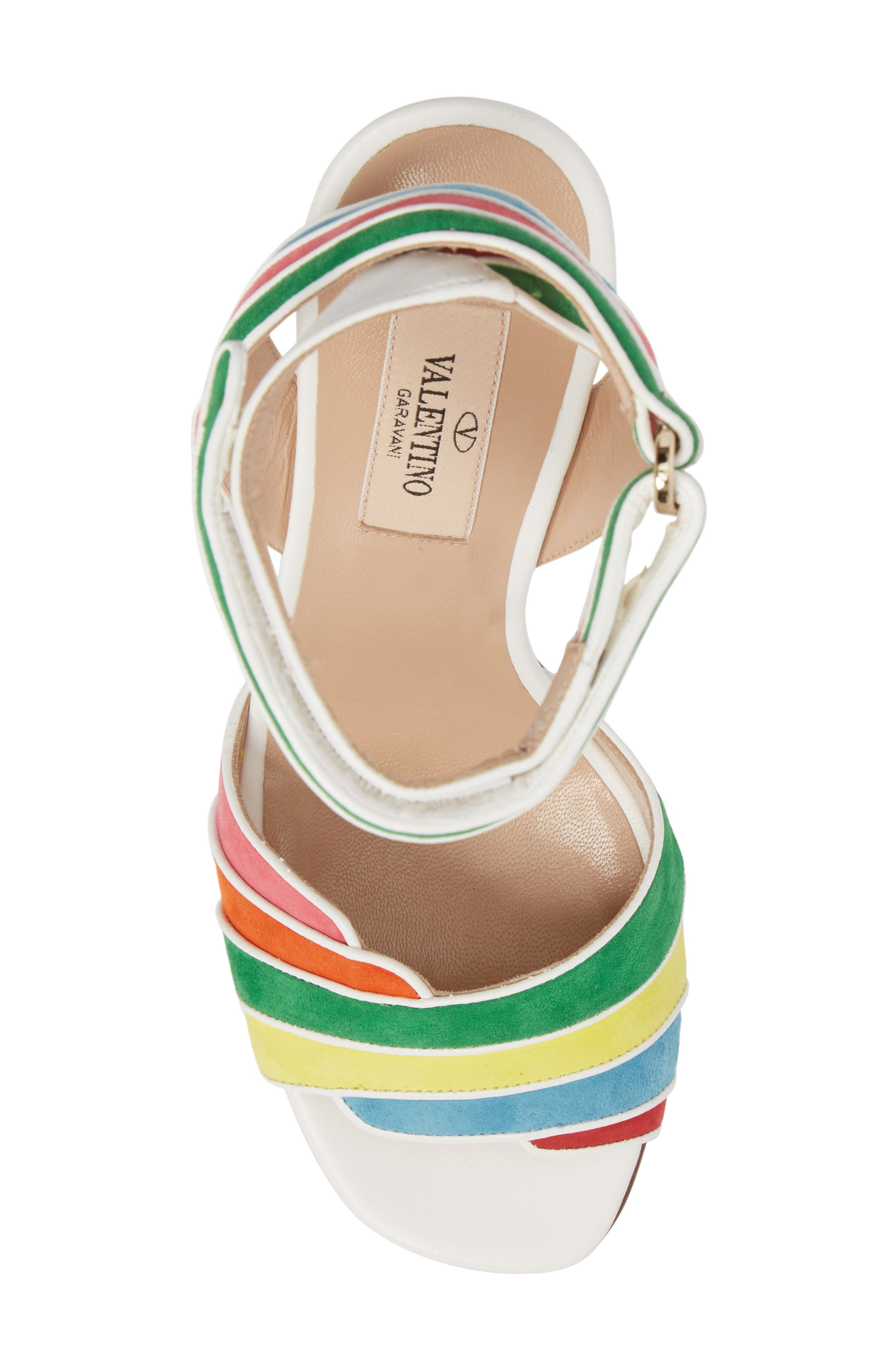 Alternate Image 5  - VALENTINO GARAVANI Rainbow Sandal (Women)