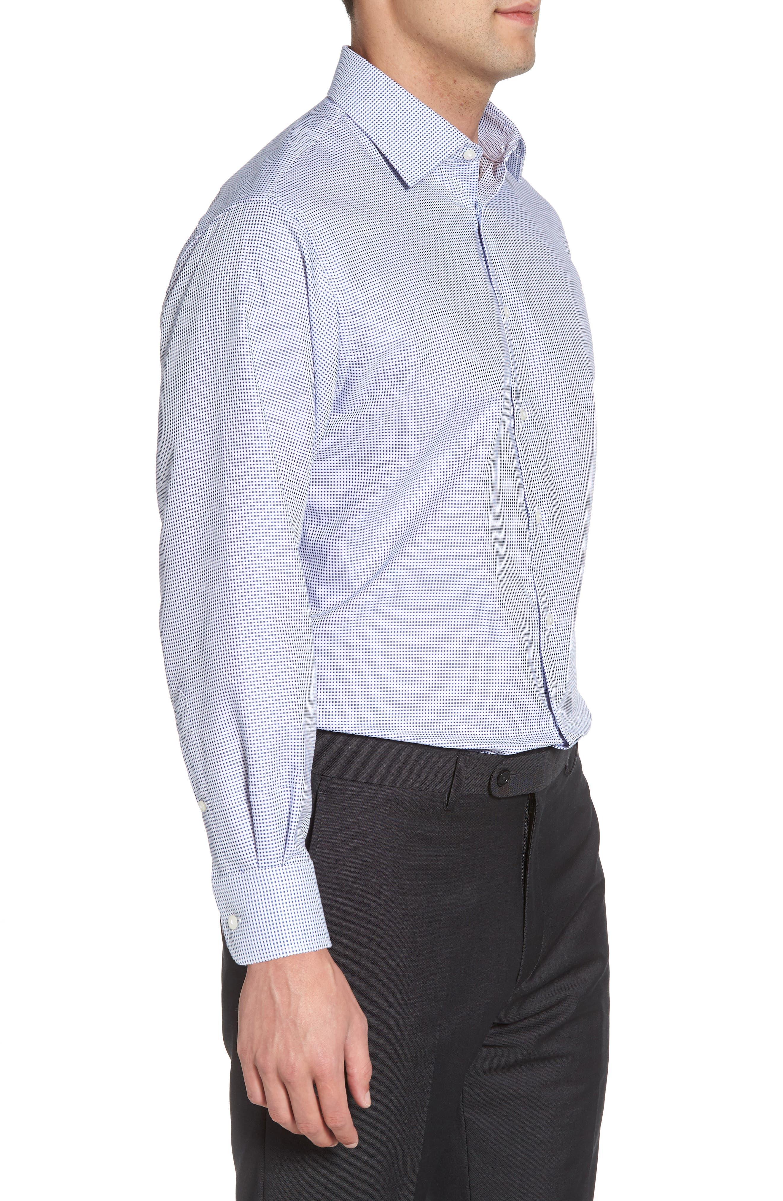 Alternate Image 3  - Nordstrom Men's Shop Classic Fit Microcheck Dress Shirt