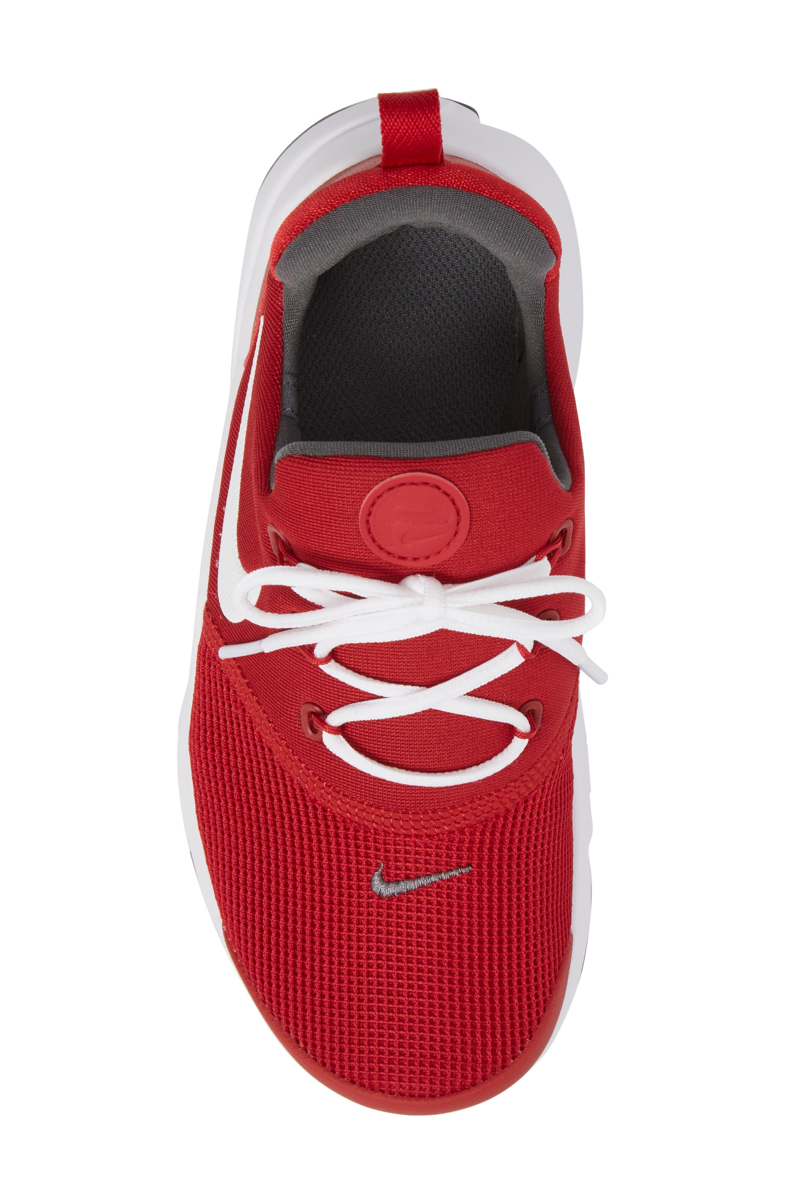 Presto Fly Sneaker,                             Alternate thumbnail 5, color,                             Gym Red/ Dark Grey/ White