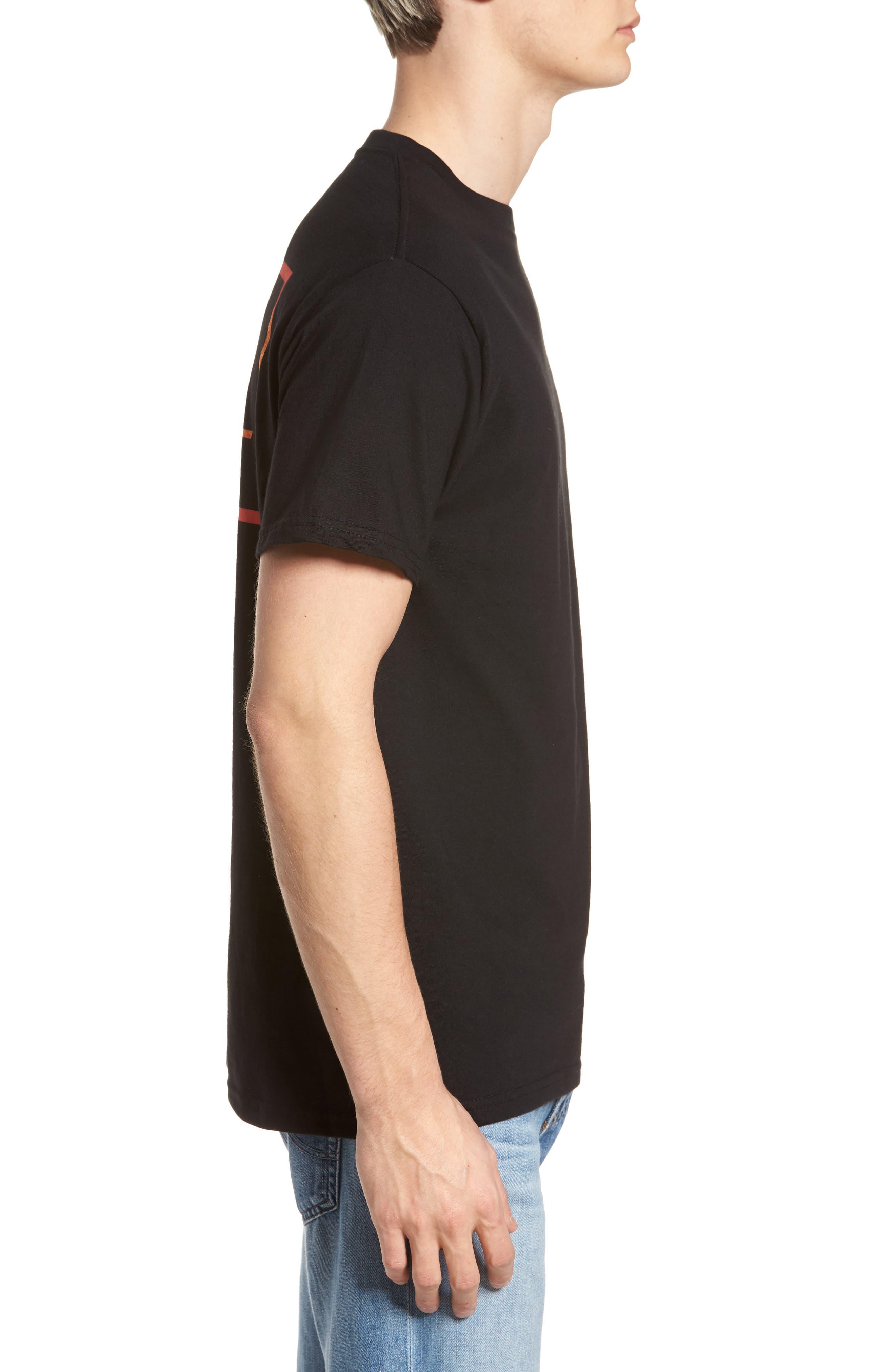 Square Root Graphic T-Shirt,                             Alternate thumbnail 3, color,                             Black