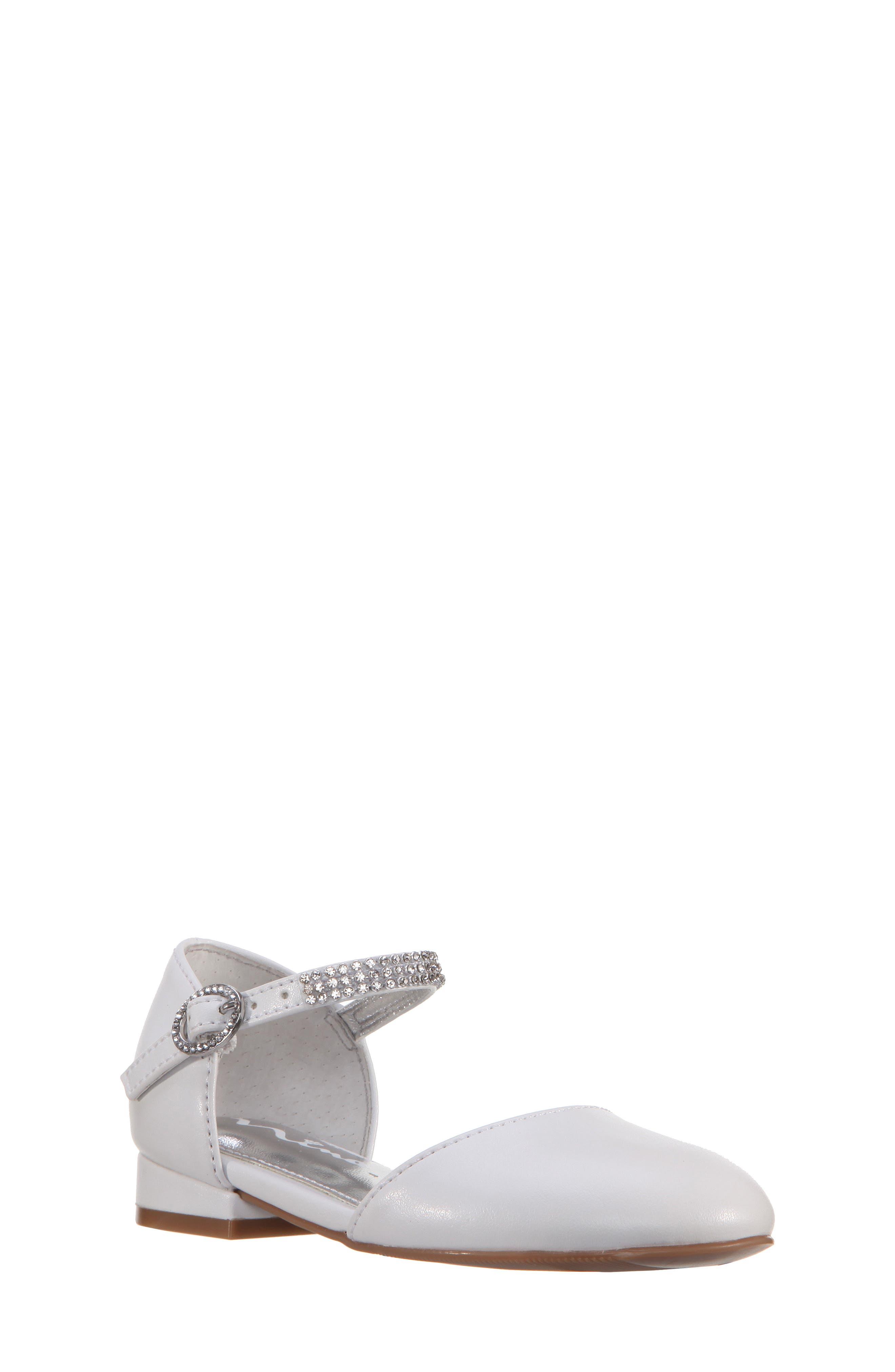 Nina Cara Crystal Embellished d'Orsay Sandal (Walker & Toddler)