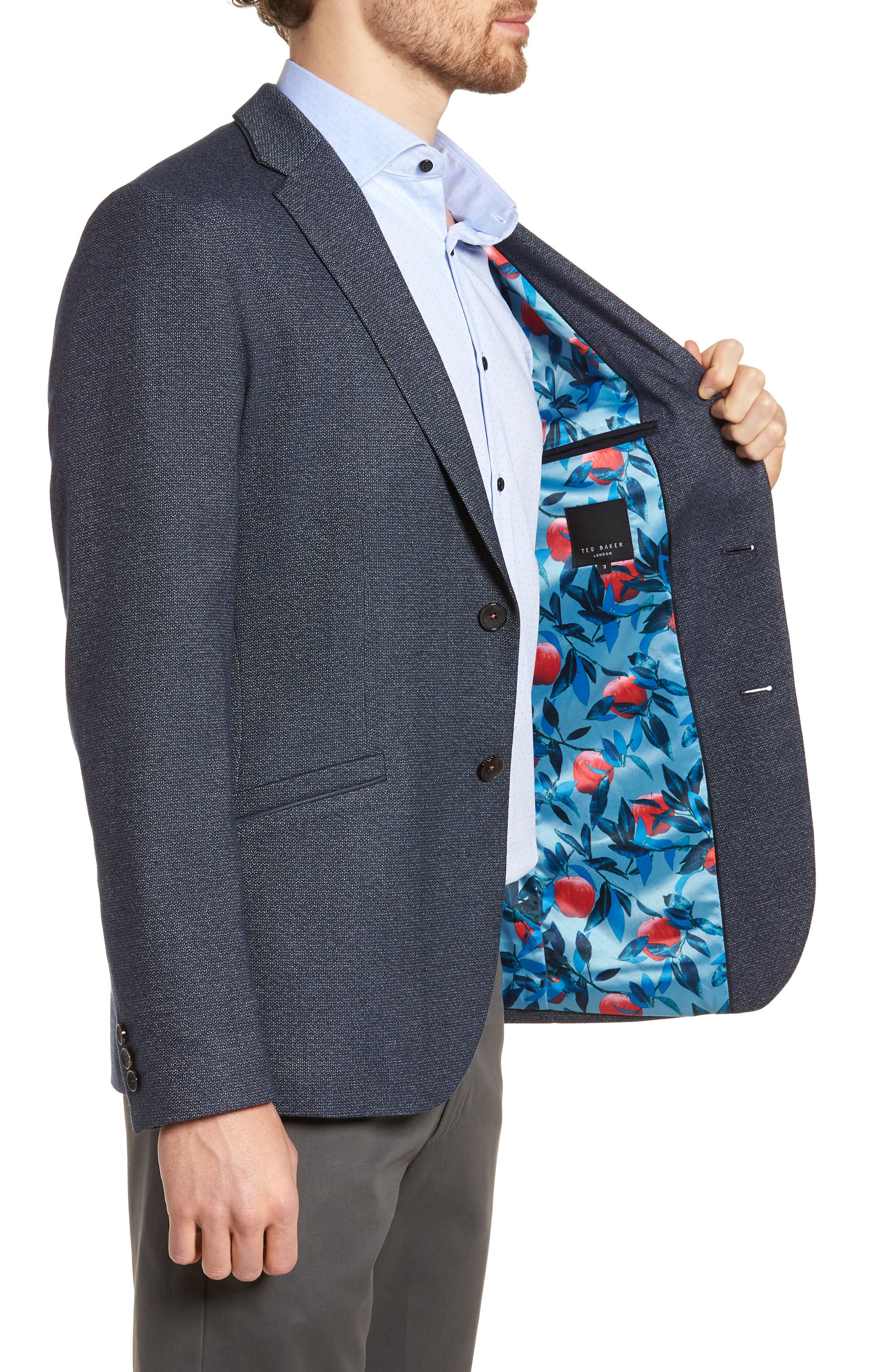 Alternate Image 3  - Ted Baker London Burke Semi Plain Trim Fit Jacket