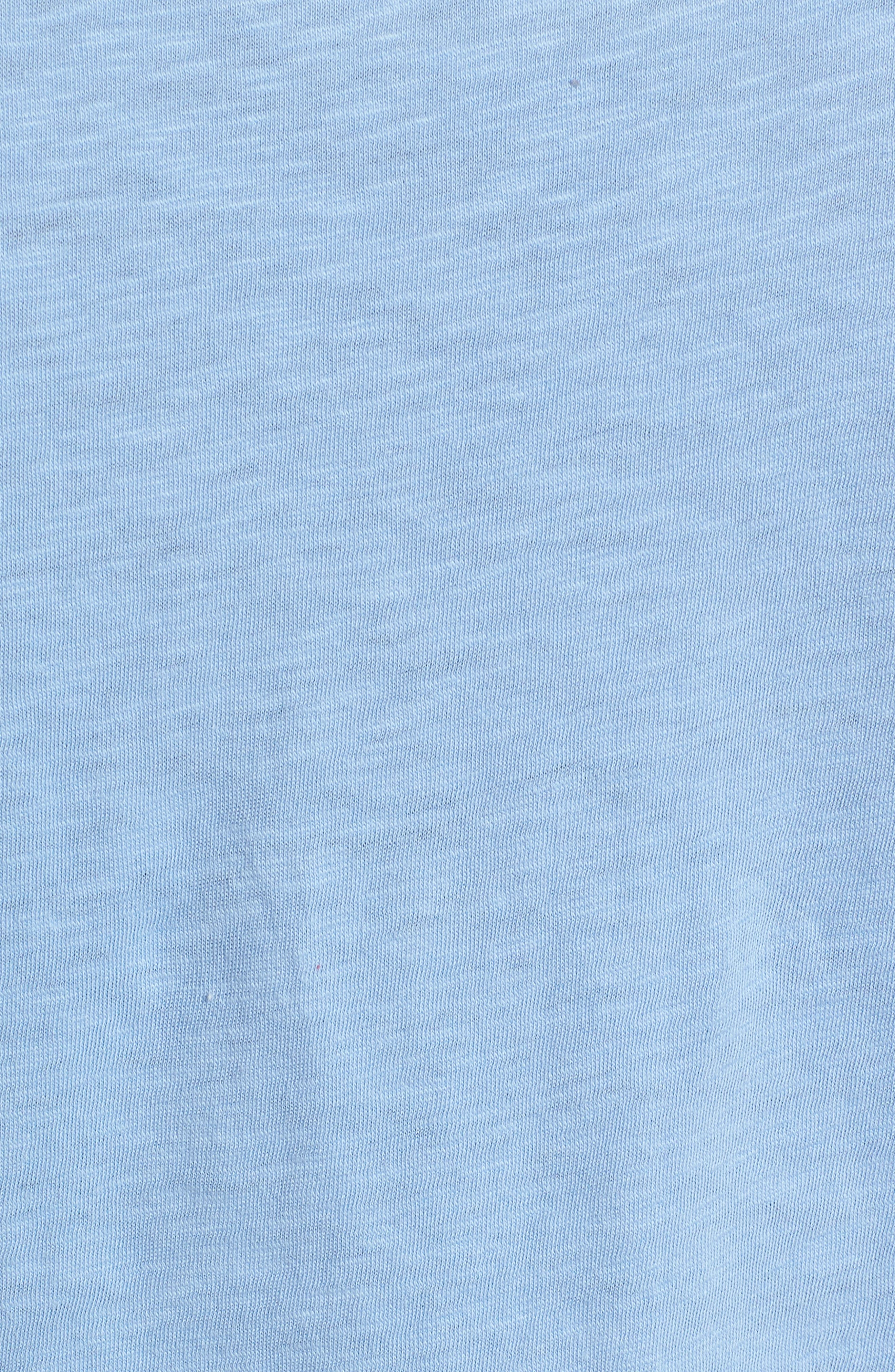 Tie Front Tee,                             Alternate thumbnail 6, color,                             Blue Bel Air