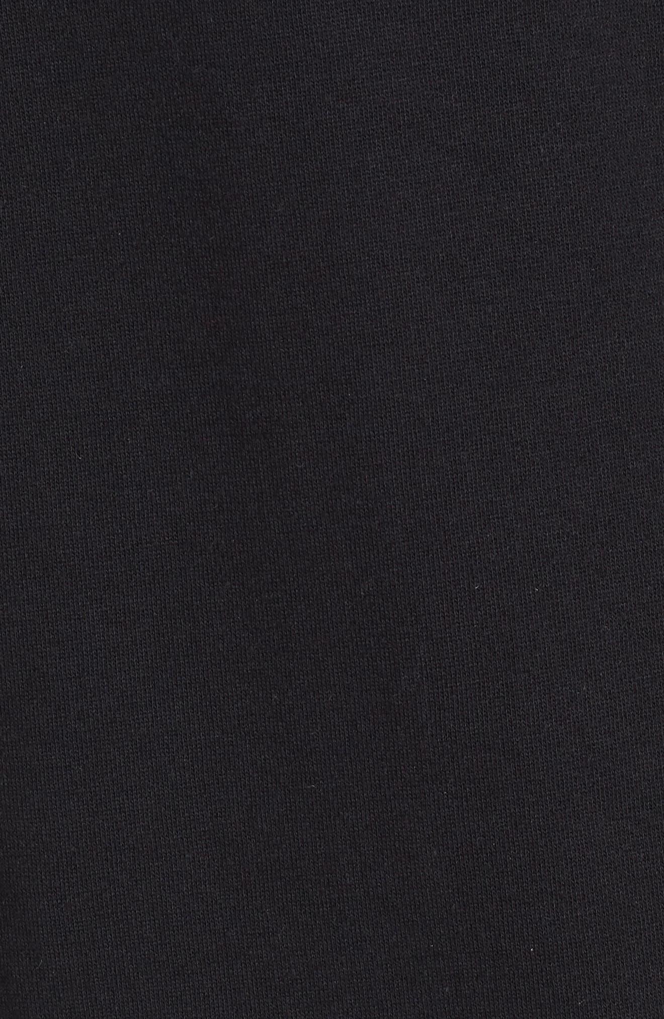 Sketch Tape Hoodie Sweatshirt,                             Alternate thumbnail 5, color,                             Black