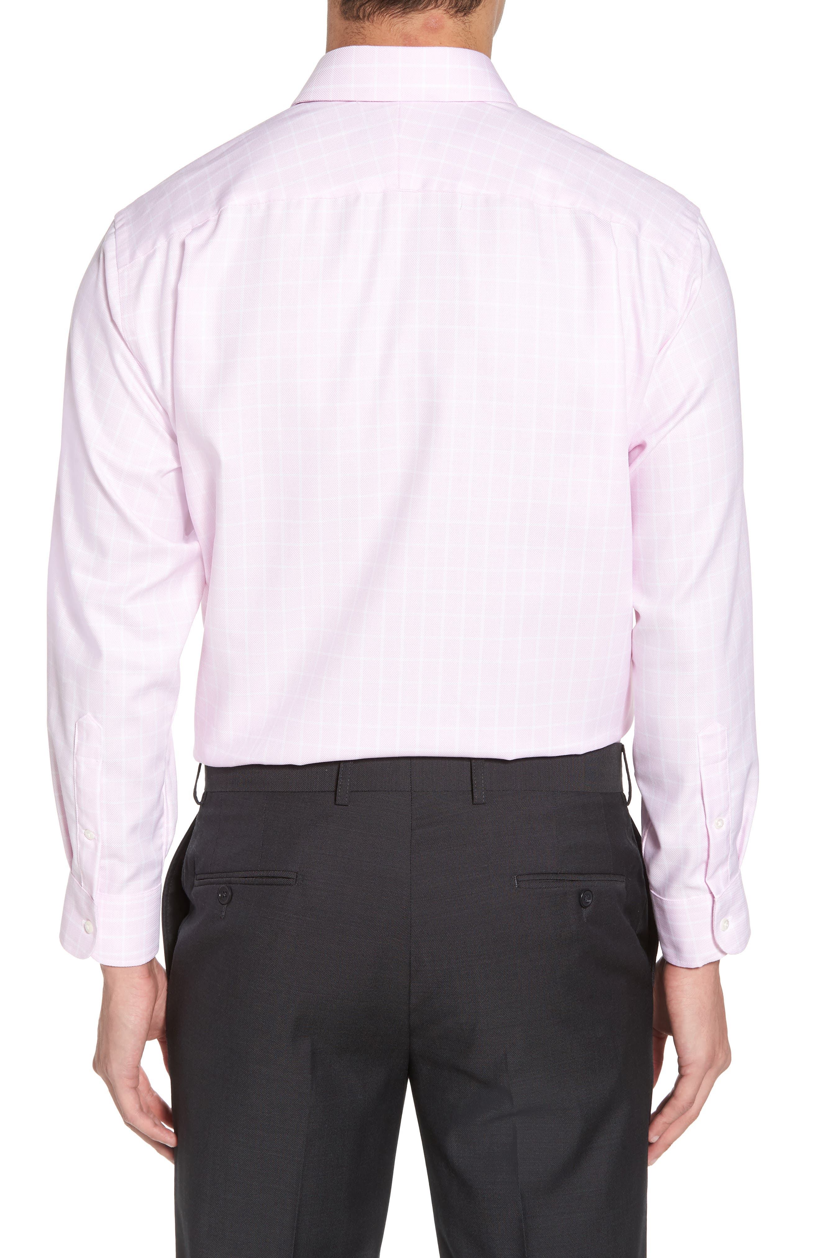 Classic Fit Non-Iron Check Dress Shirt,                             Alternate thumbnail 3, color,                             Pink Lavender