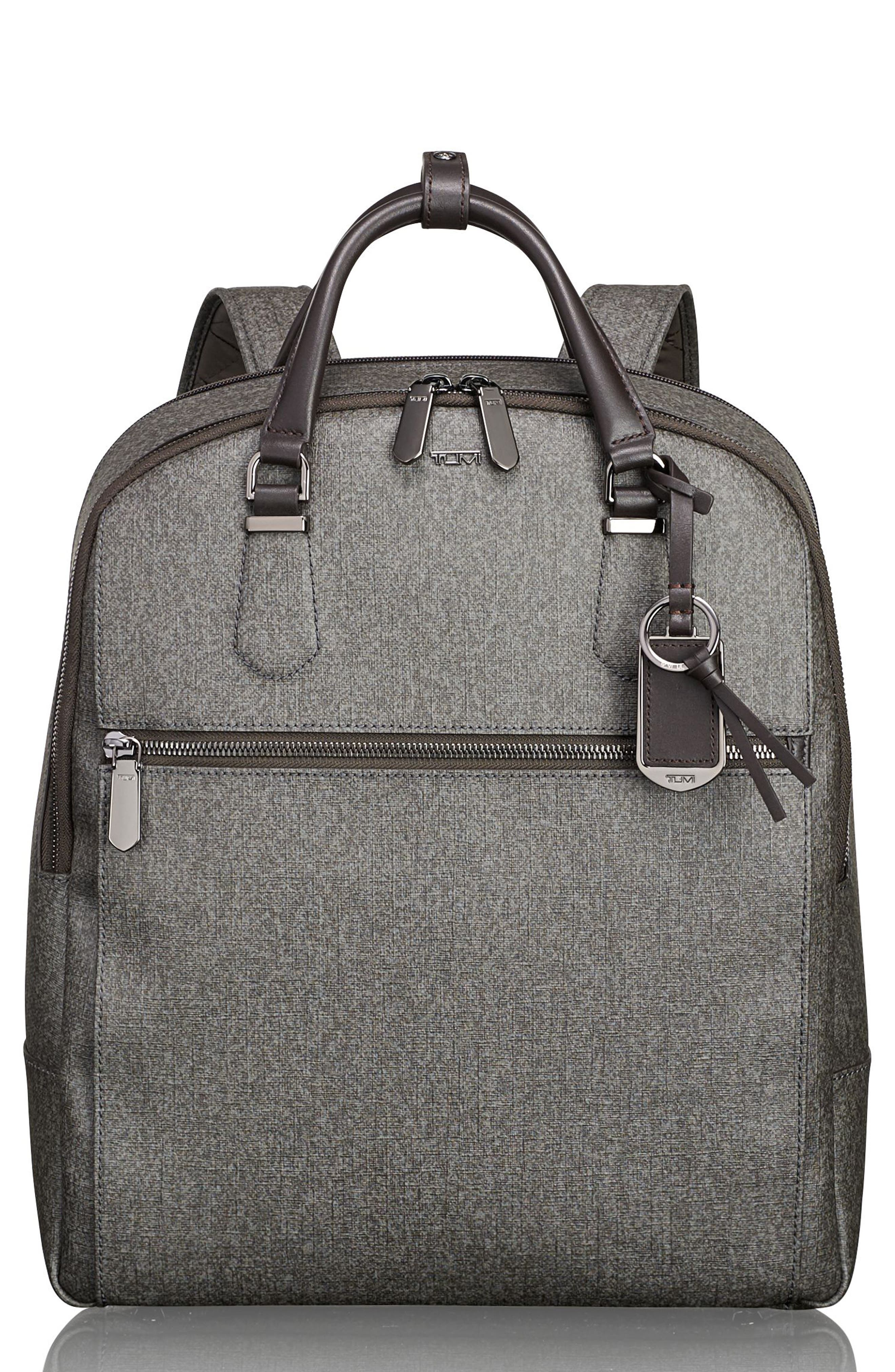 Stanton Orion Coated Canvas Backpack,                         Main,                         color, Earl Grey