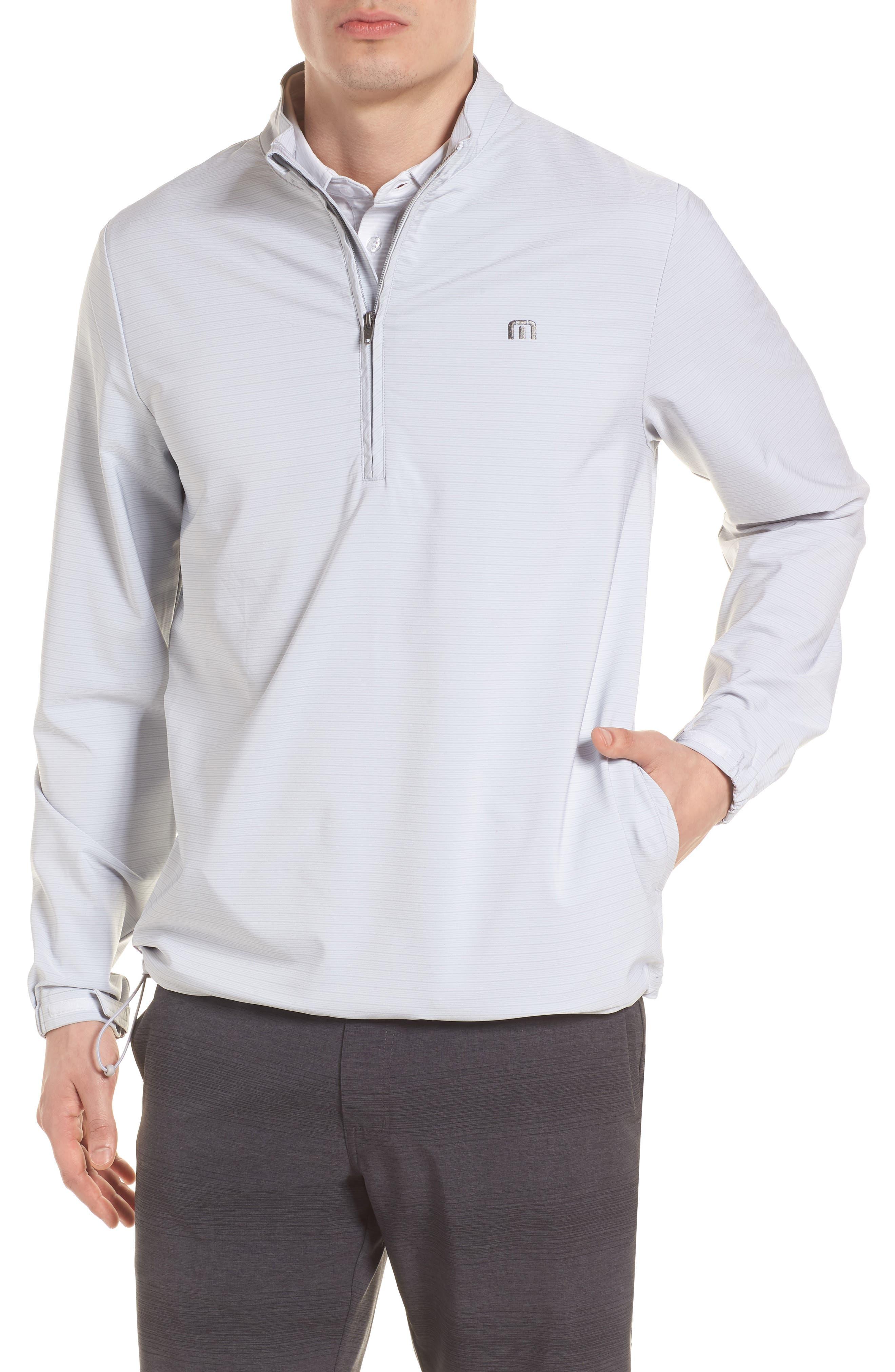 Luca Quarter Zip Pullover,                         Main,                         color, Micro Chip/ White