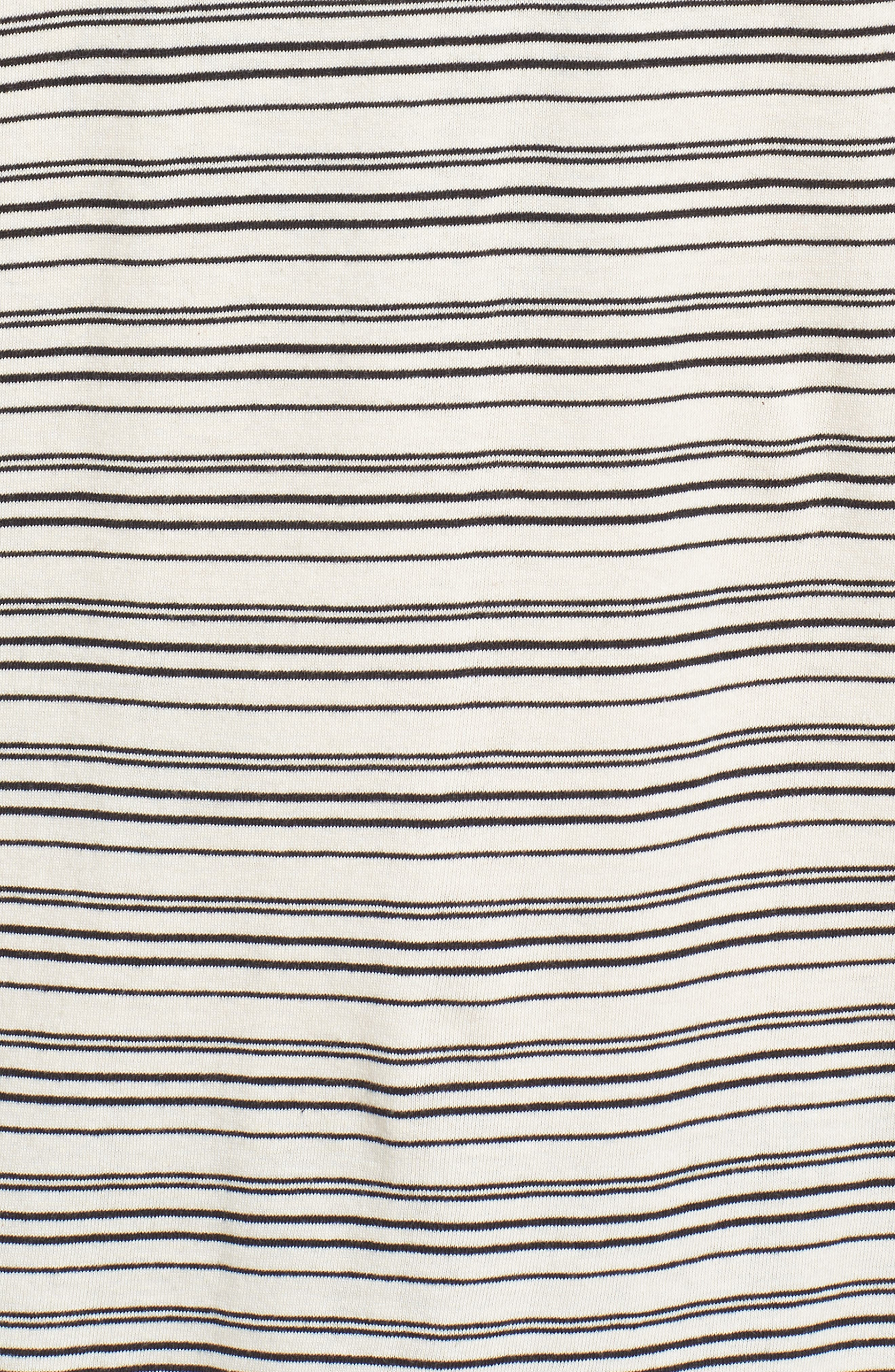Blocked Ringer T-Shirt,                             Alternate thumbnail 5, color,                             Ivory Black Block Stripe