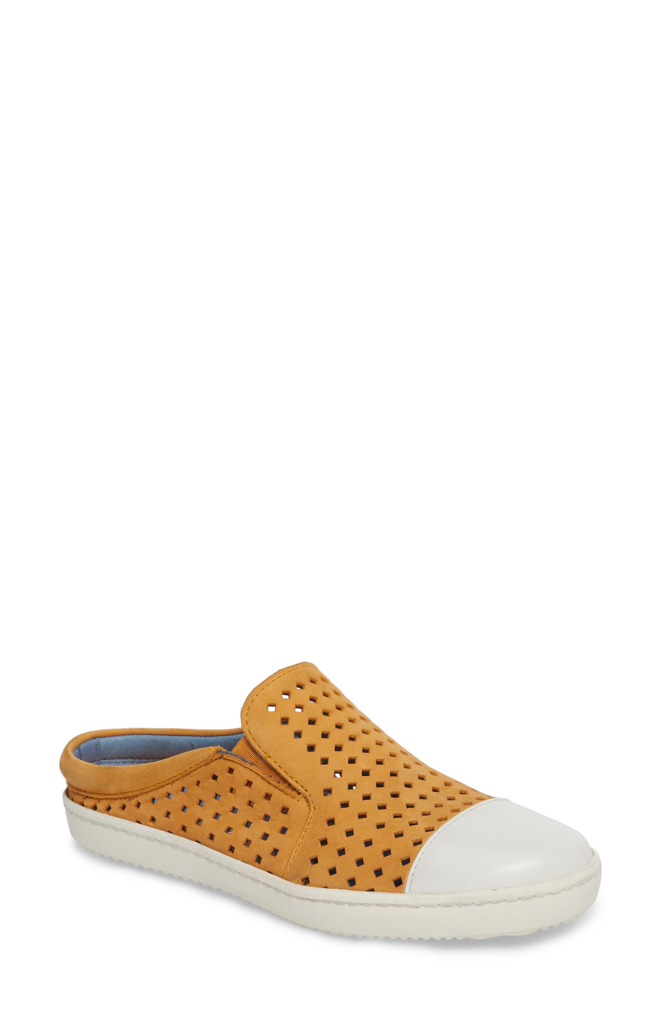 Tippy Slip-On Sneaker,                         Main,                         color, Saffon Suede