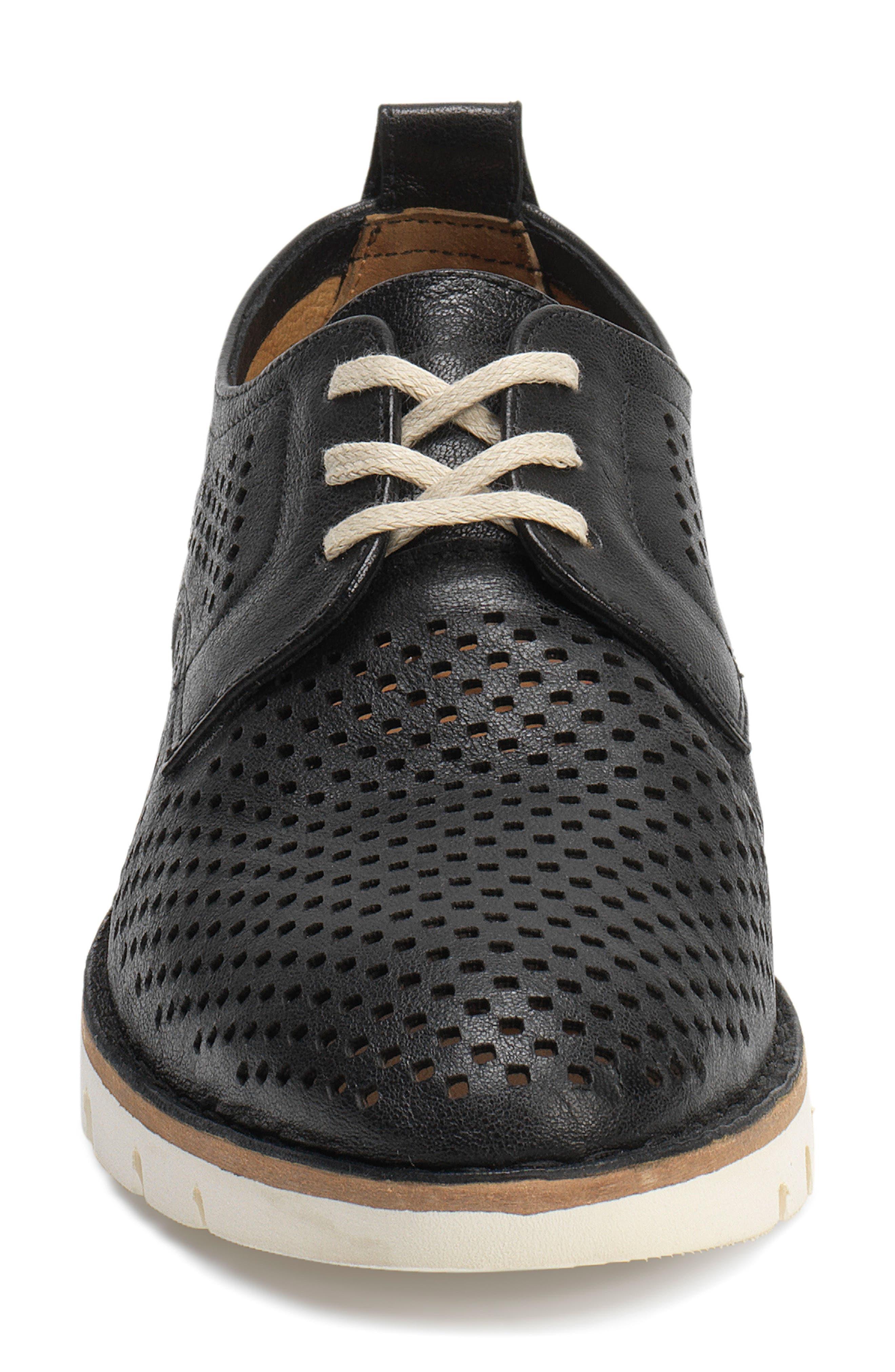 Lena Sneaker,                             Alternate thumbnail 4, color,                             Black Leather