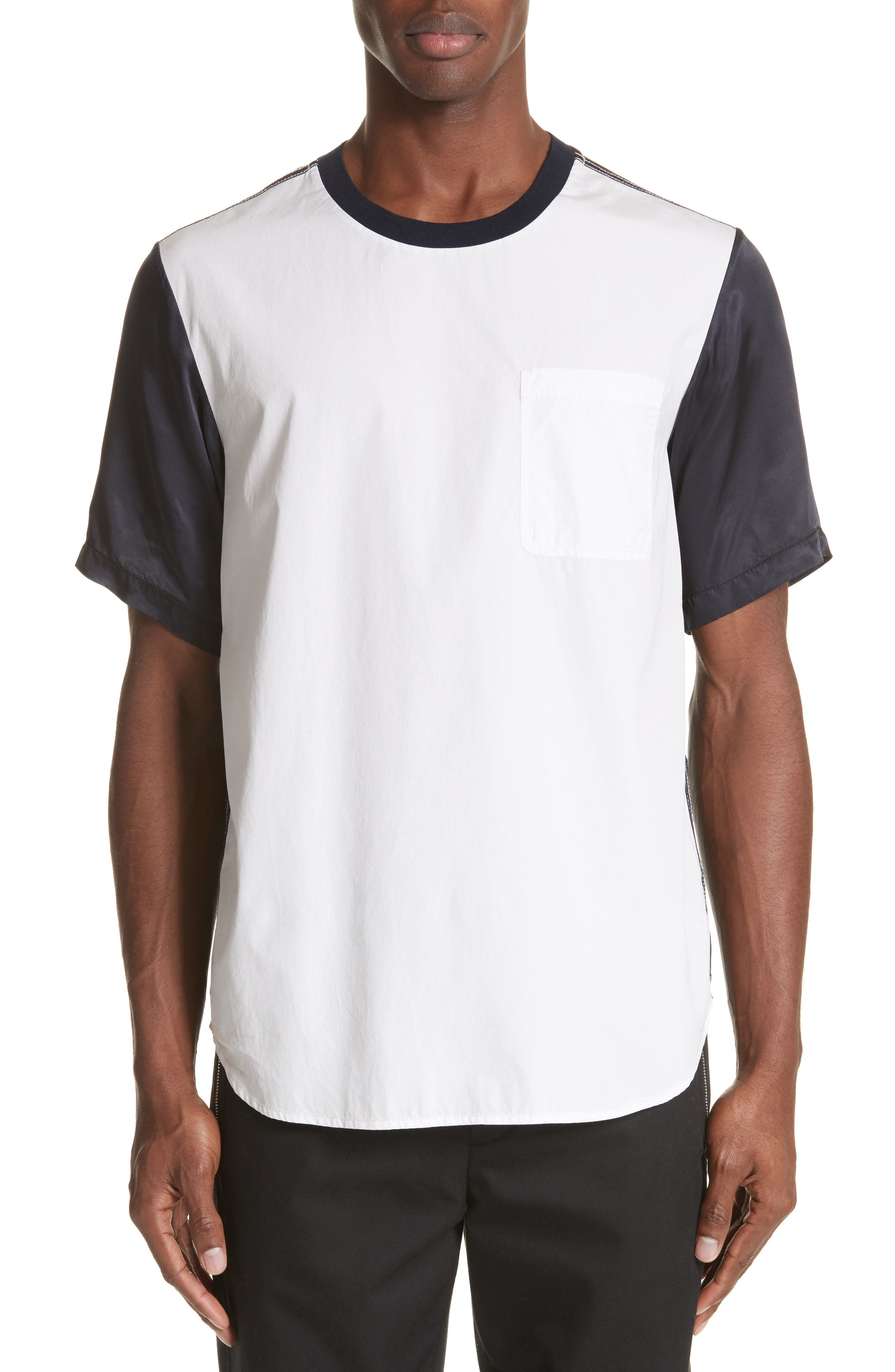 3.1 Phillip Lim Colorblock Rayon & Cotton T-Shirt