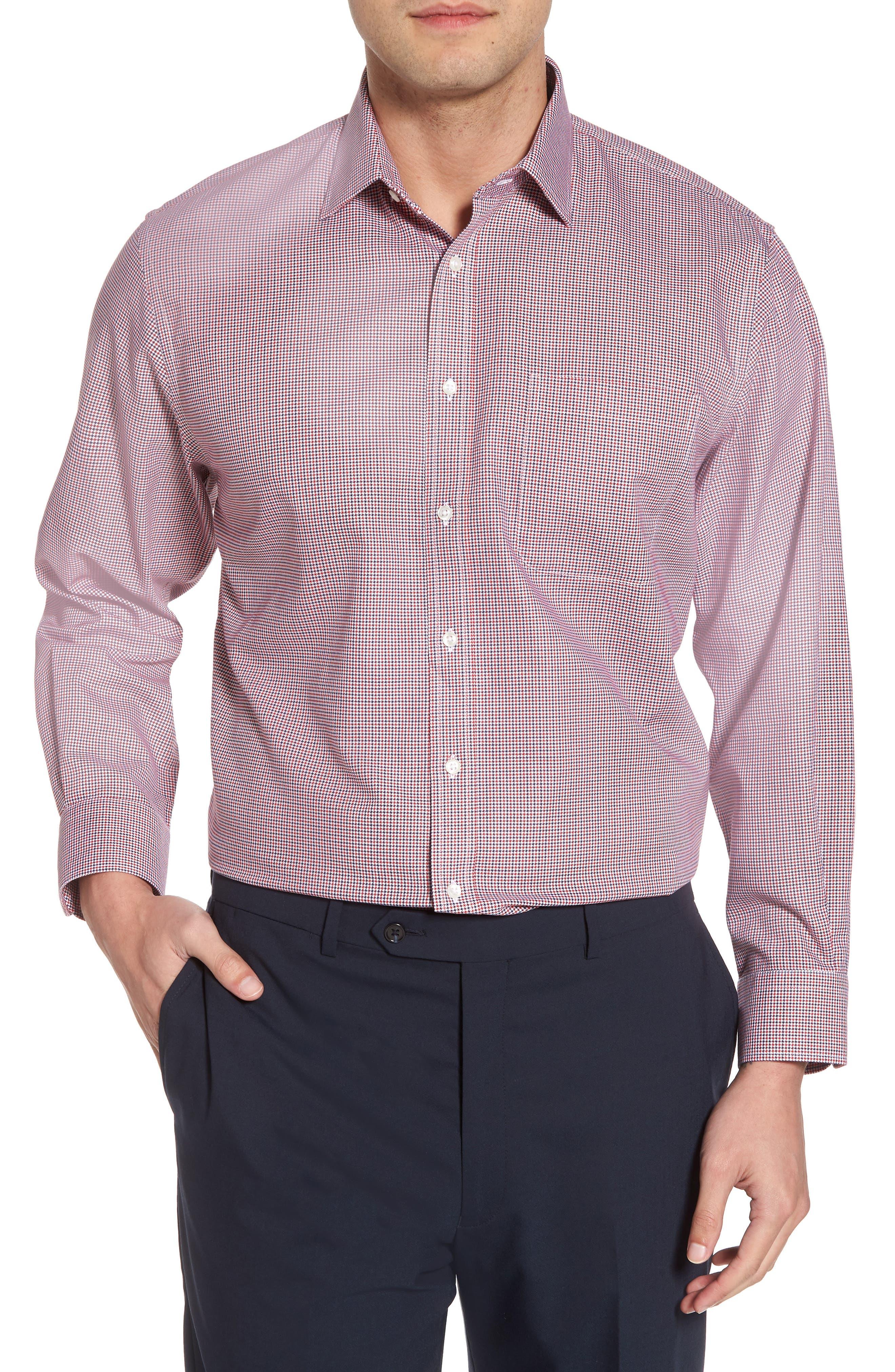 Main Image - Nordstrom Men's Shop Smartcare™ Traditional Fit Houndstooth Dress Shirt