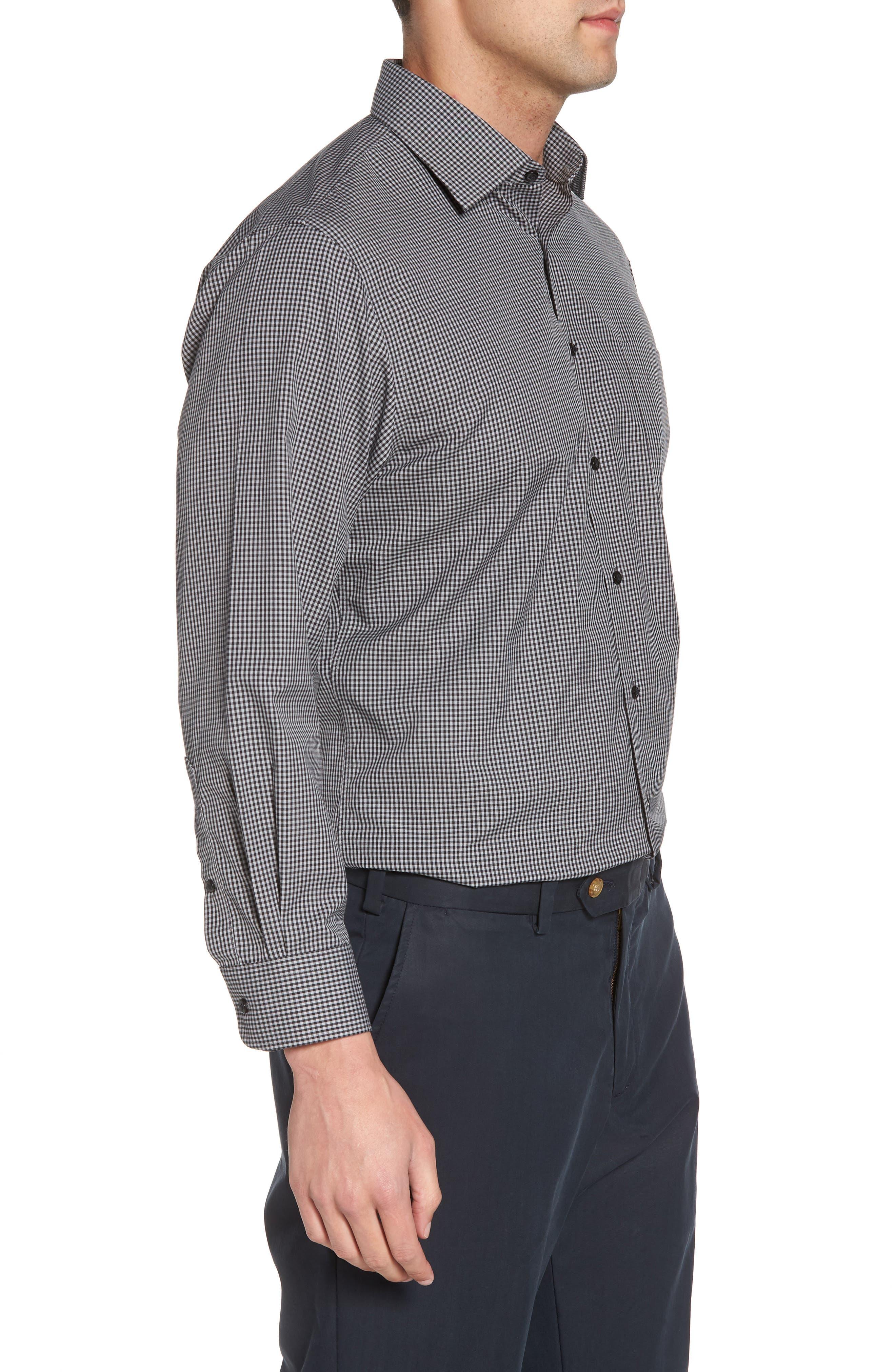 Smartcare<sup>™</sup> Traditional Fit Check Dress Shirt,                             Alternate thumbnail 4, color,                             Black Rock