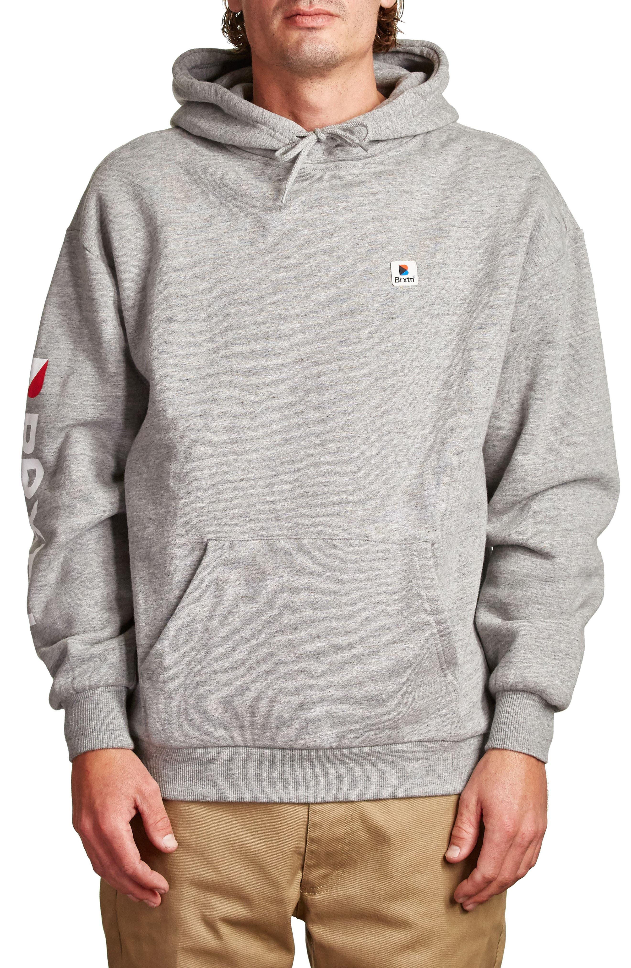 Stowell Hoodie Sweatshirt,                         Main,                         color, Heather Grey
