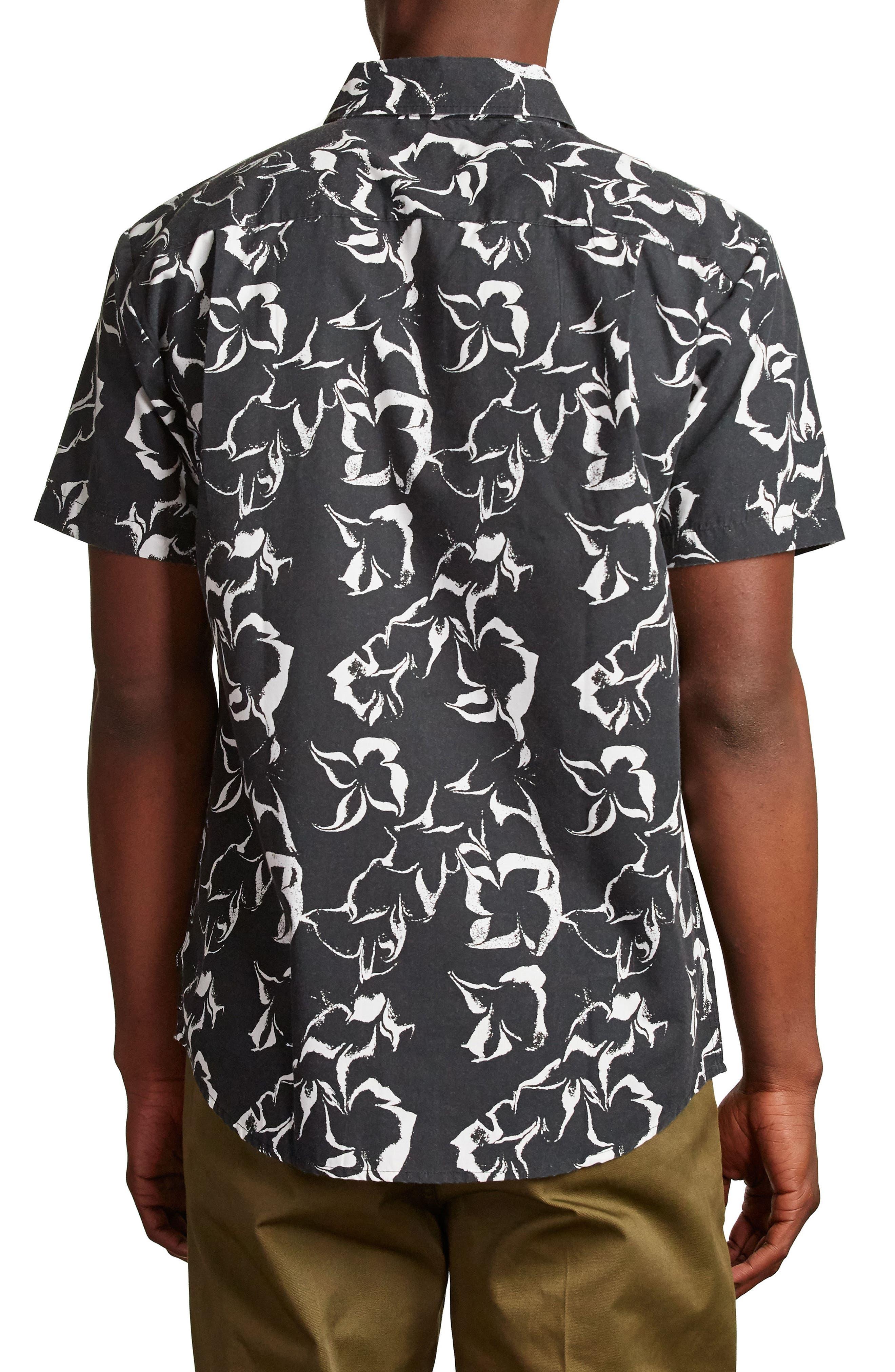 Stuart Woven Shirt,                             Alternate thumbnail 2, color,                             Washed Black