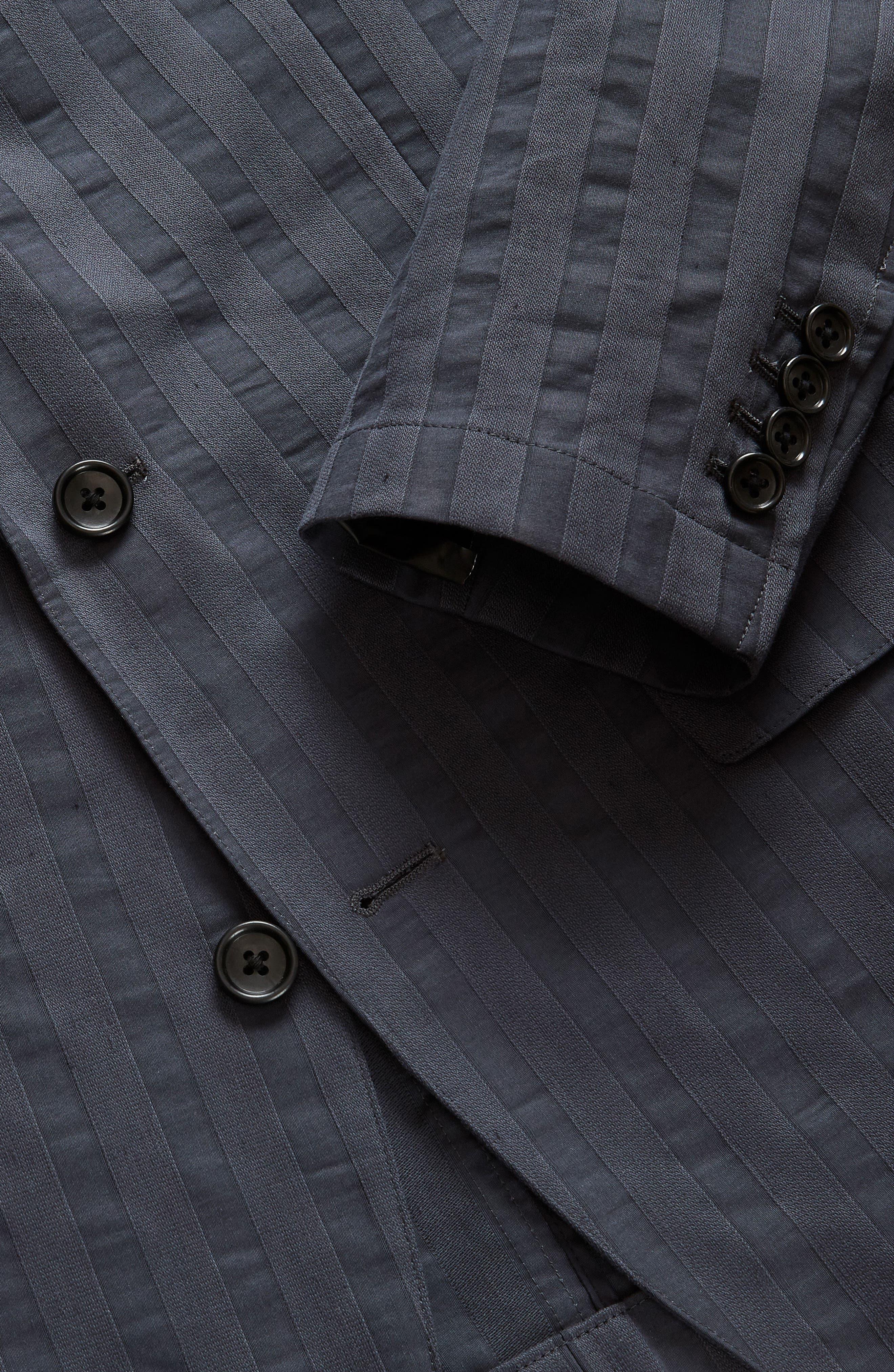 Slim Fit Stripe Blazer,                             Alternate thumbnail 3, color,                             Stripe Shirtmake