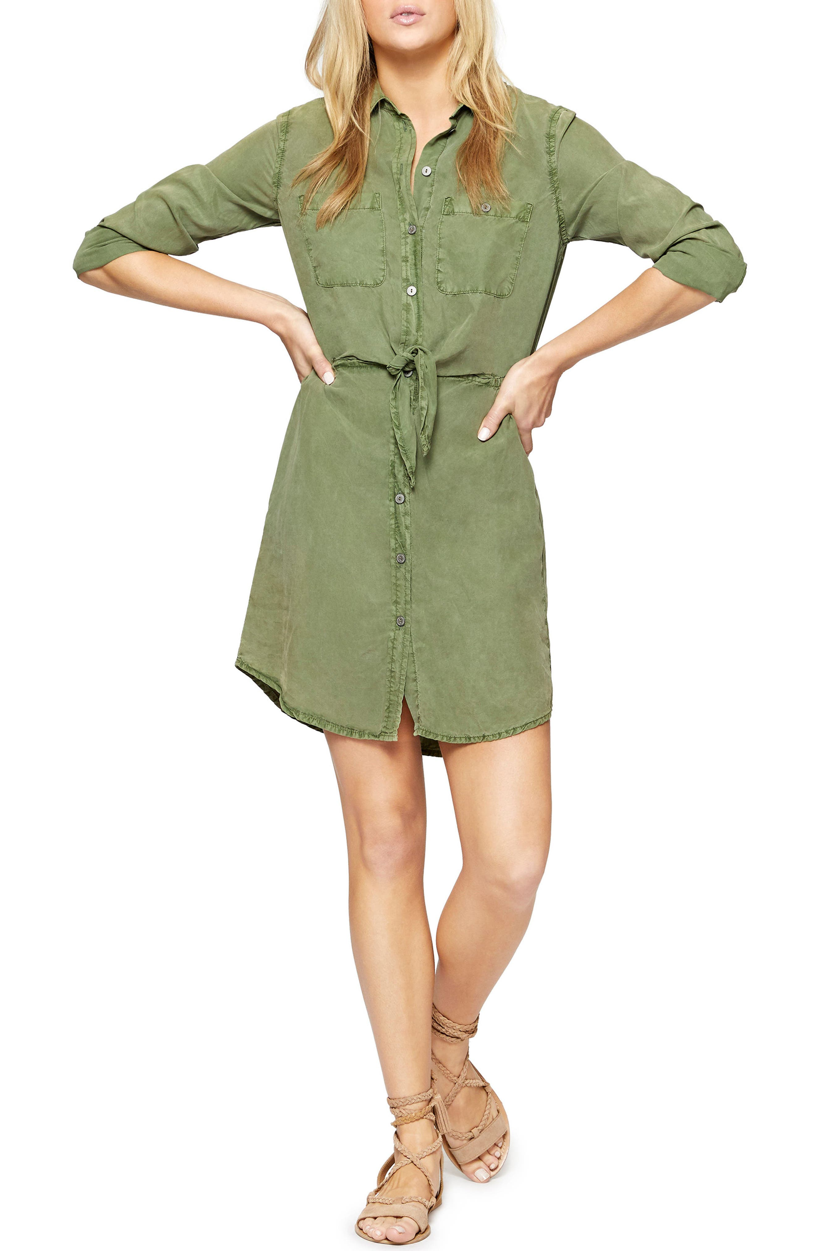 Forget Me Knot Shirtdress,                             Main thumbnail 1, color,                             Cadet