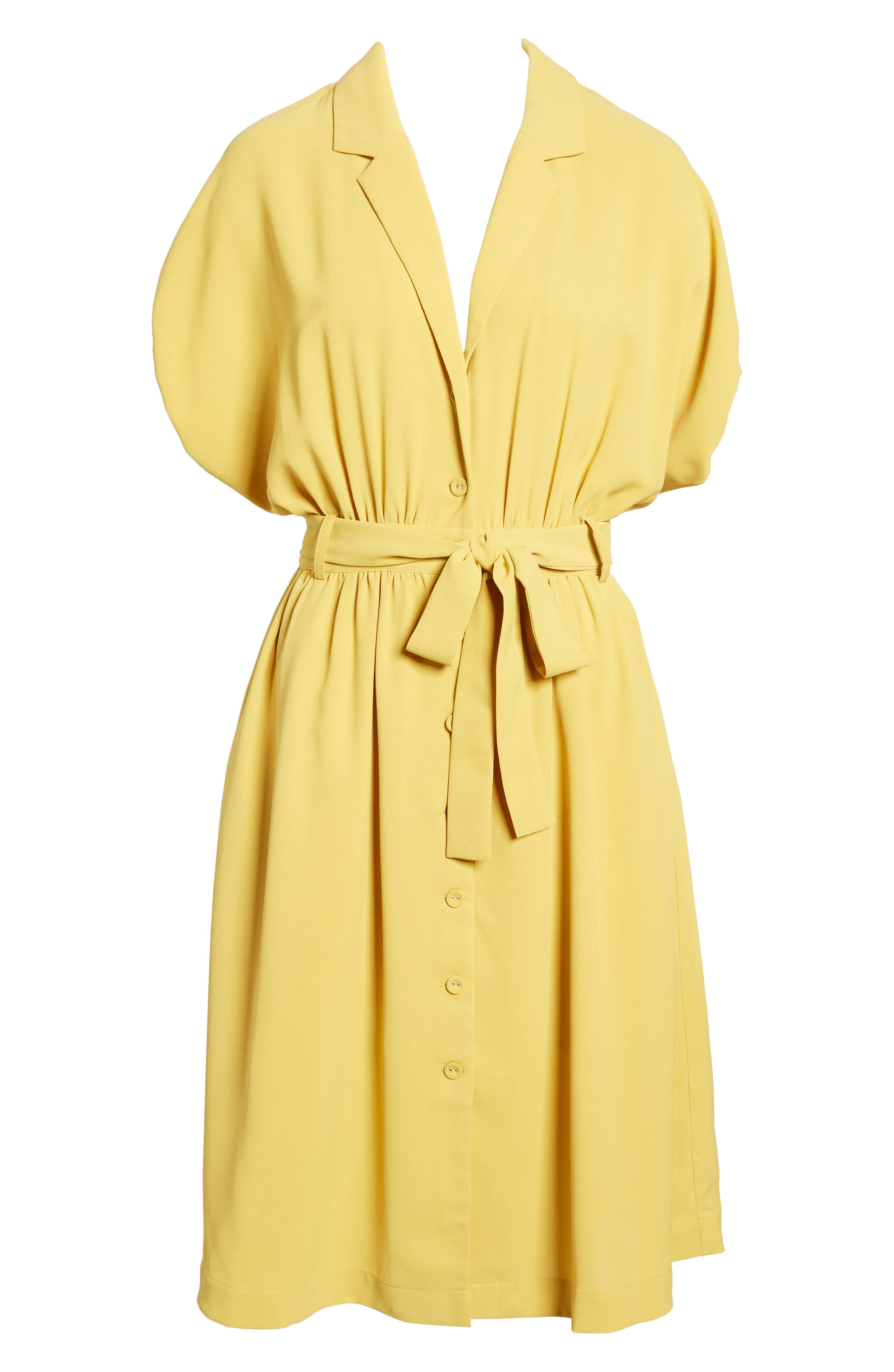 Chriselle x J.O.A. Cocoon Sleeve Dress,                             Alternate thumbnail 8, color,                             Roman Gold