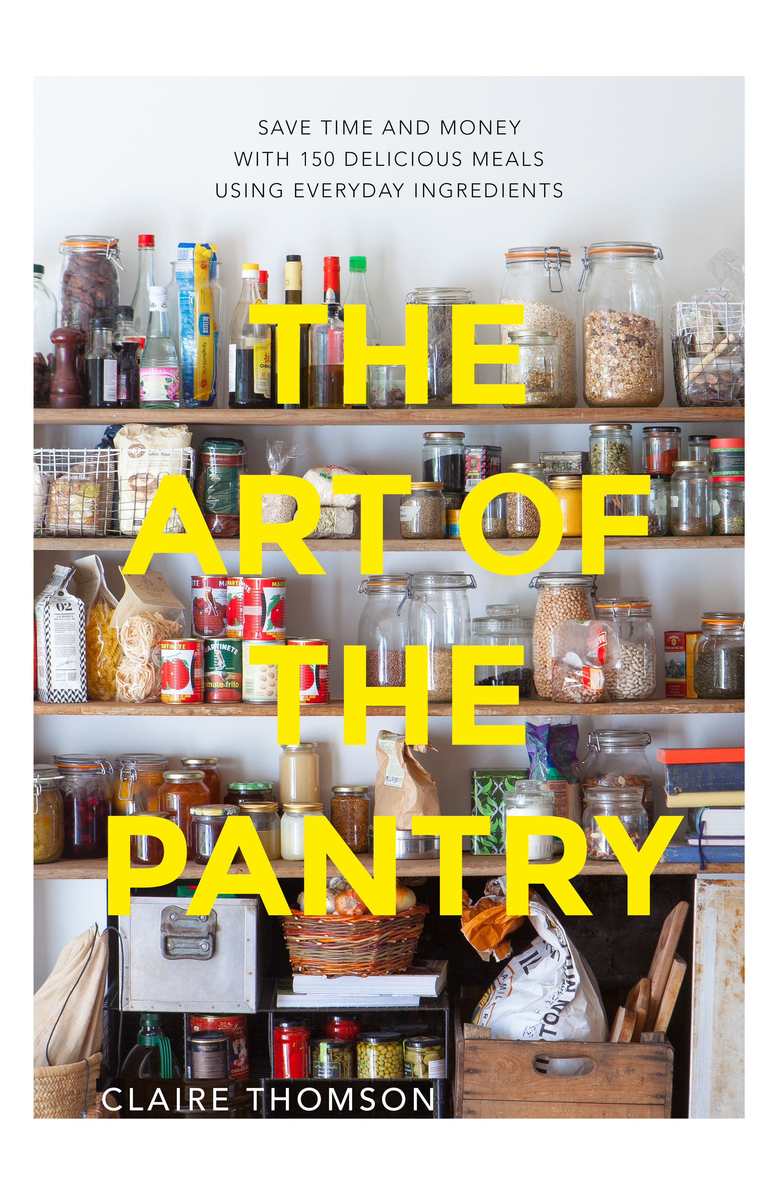 'The Art of the Pantry' Book,                             Main thumbnail 1, color,                             Yellow Multi