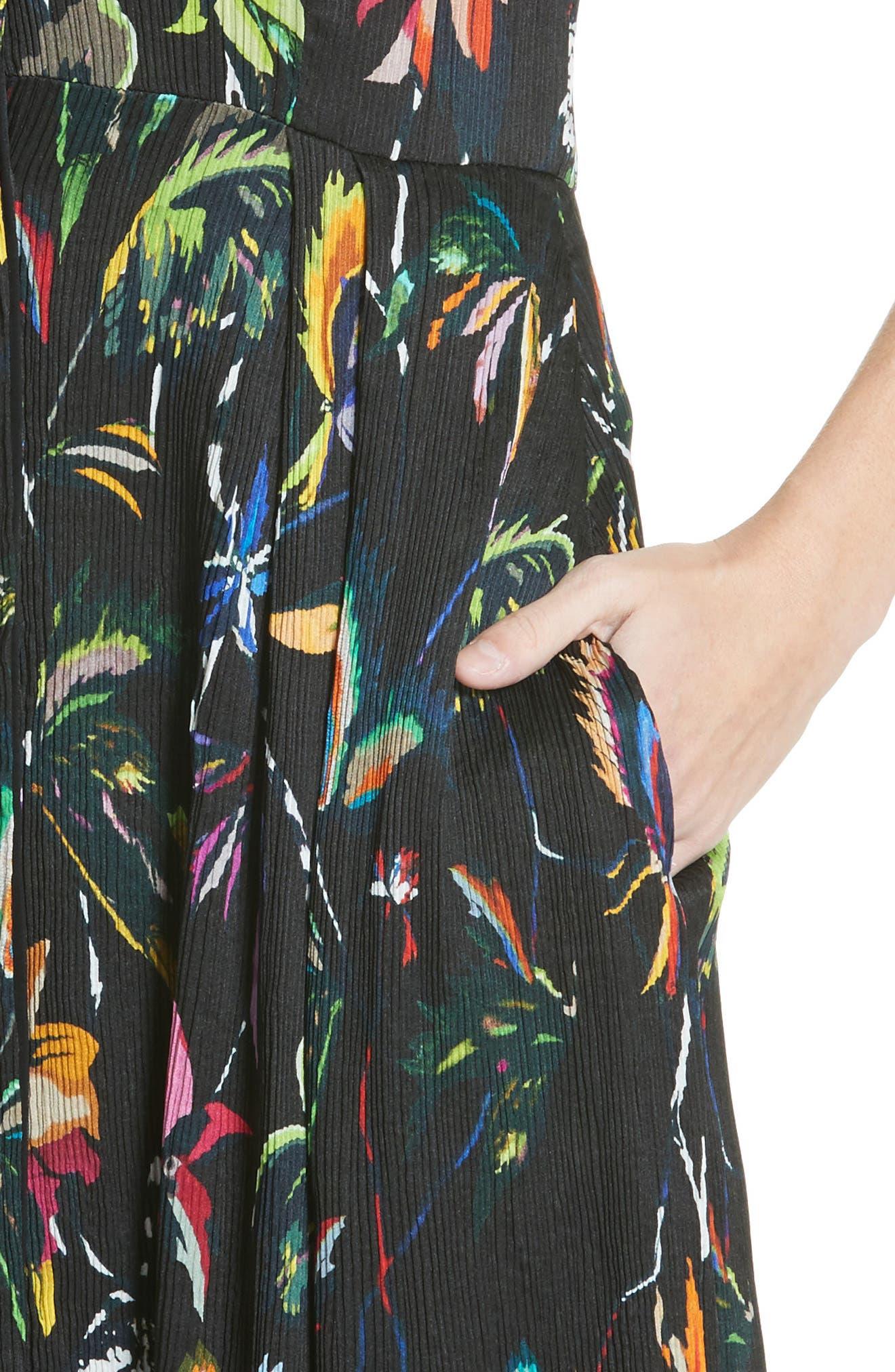 Alternate Image 4  - Jason Wu Floral Print Plissé Silk Crepon Dress