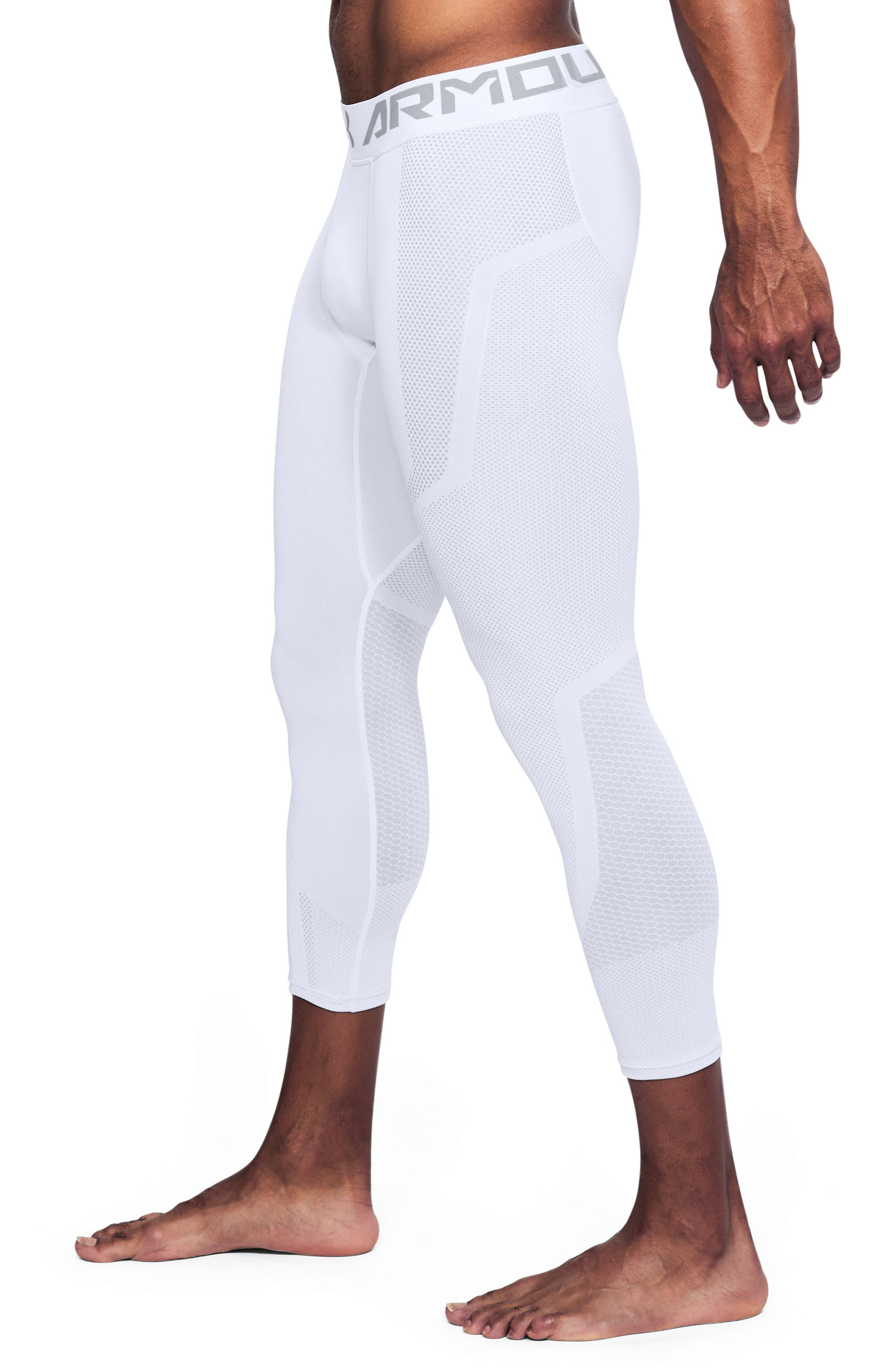 Threadborne Seamless Pants,                             Alternate thumbnail 3, color,                             White/ Overcast Gray