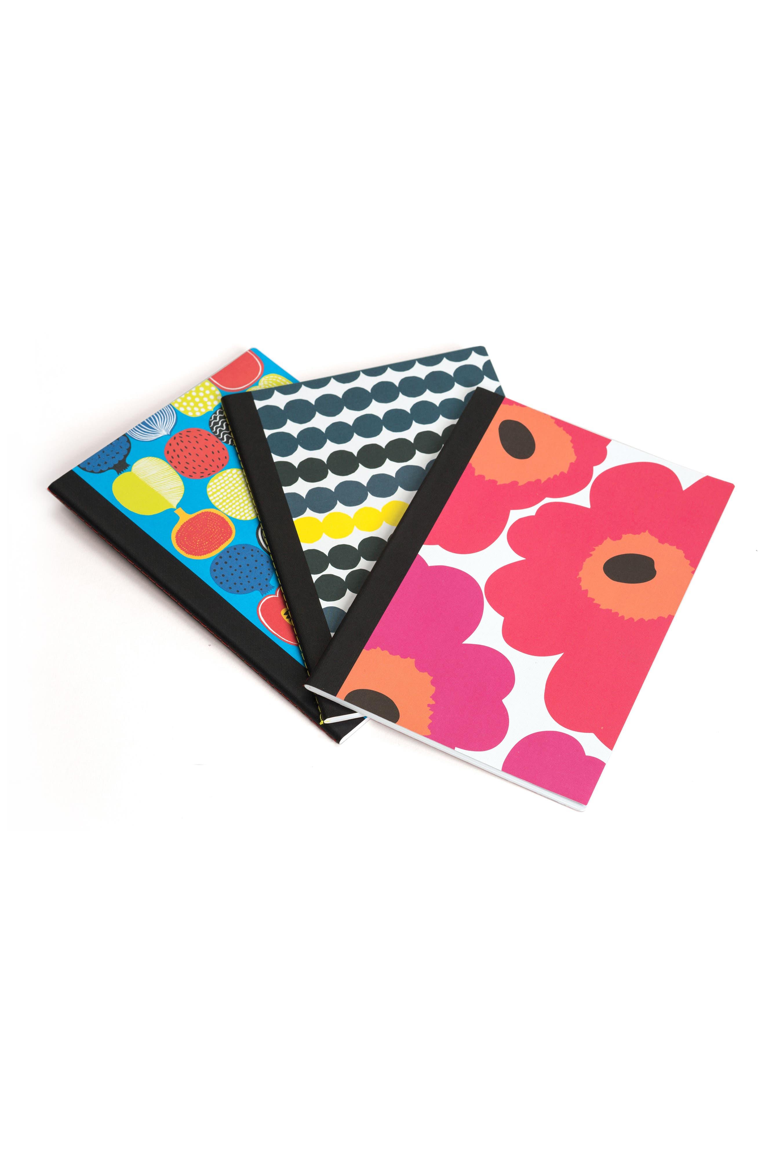 Marimekko Notebook Trio,                             Main thumbnail 1, color,                             Multi