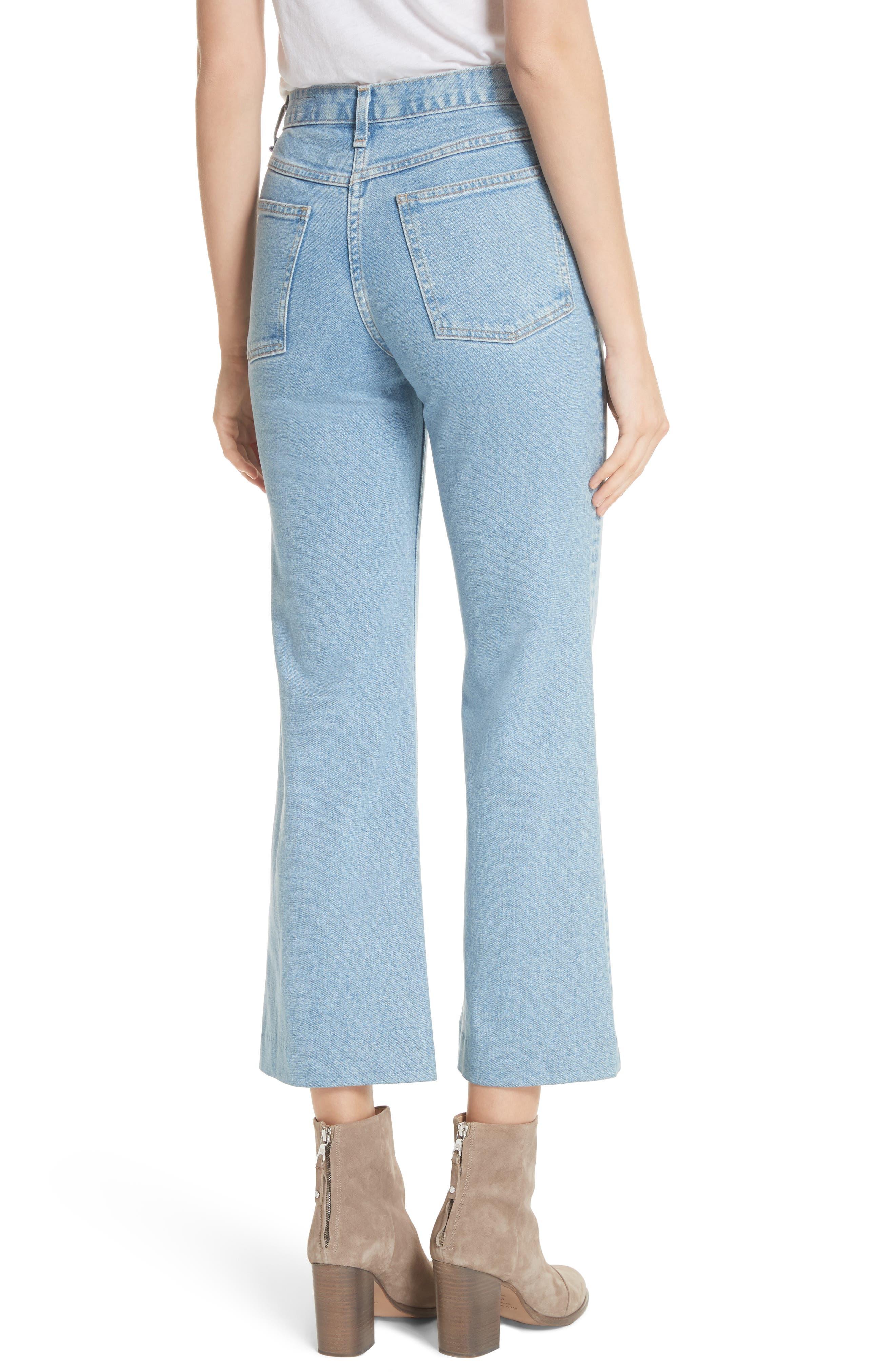 Justine High Waist Wide Leg Trouser Jeans,                             Alternate thumbnail 2, color,                             Broken Nelly