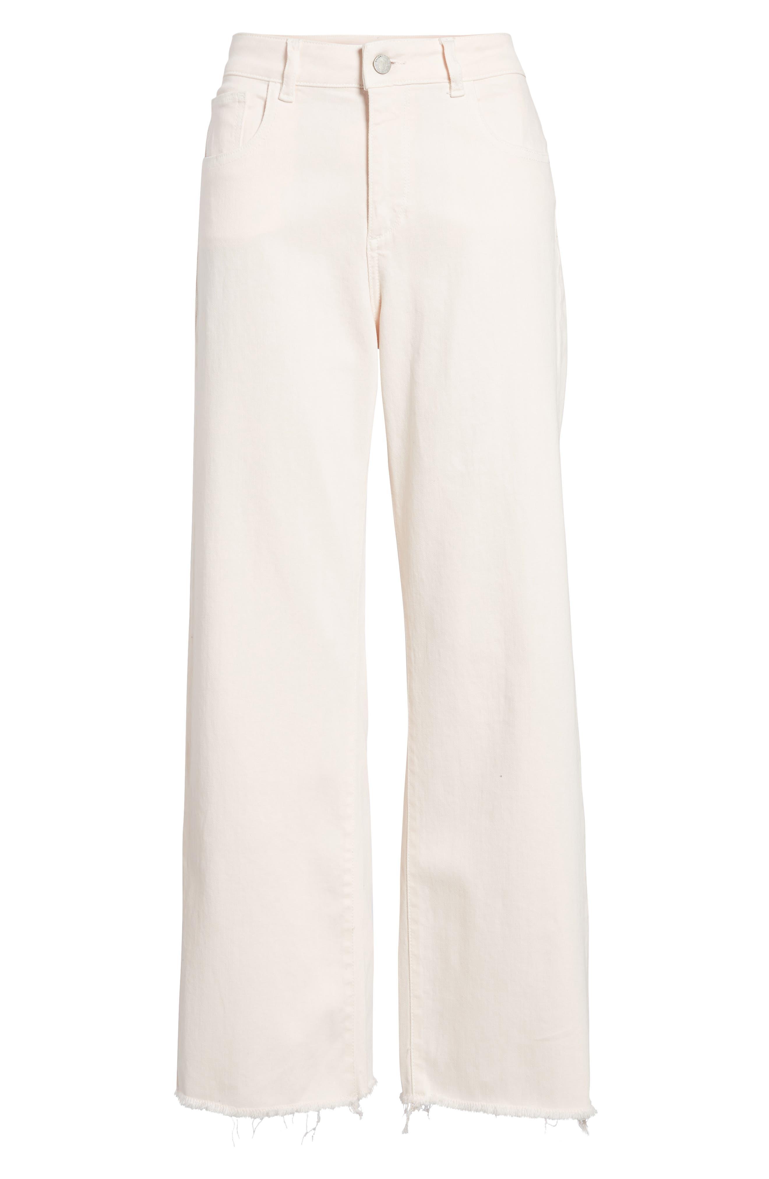 Hepburn Ankle Wide Leg Jeans,                             Alternate thumbnail 6, color,                             Blush Pink