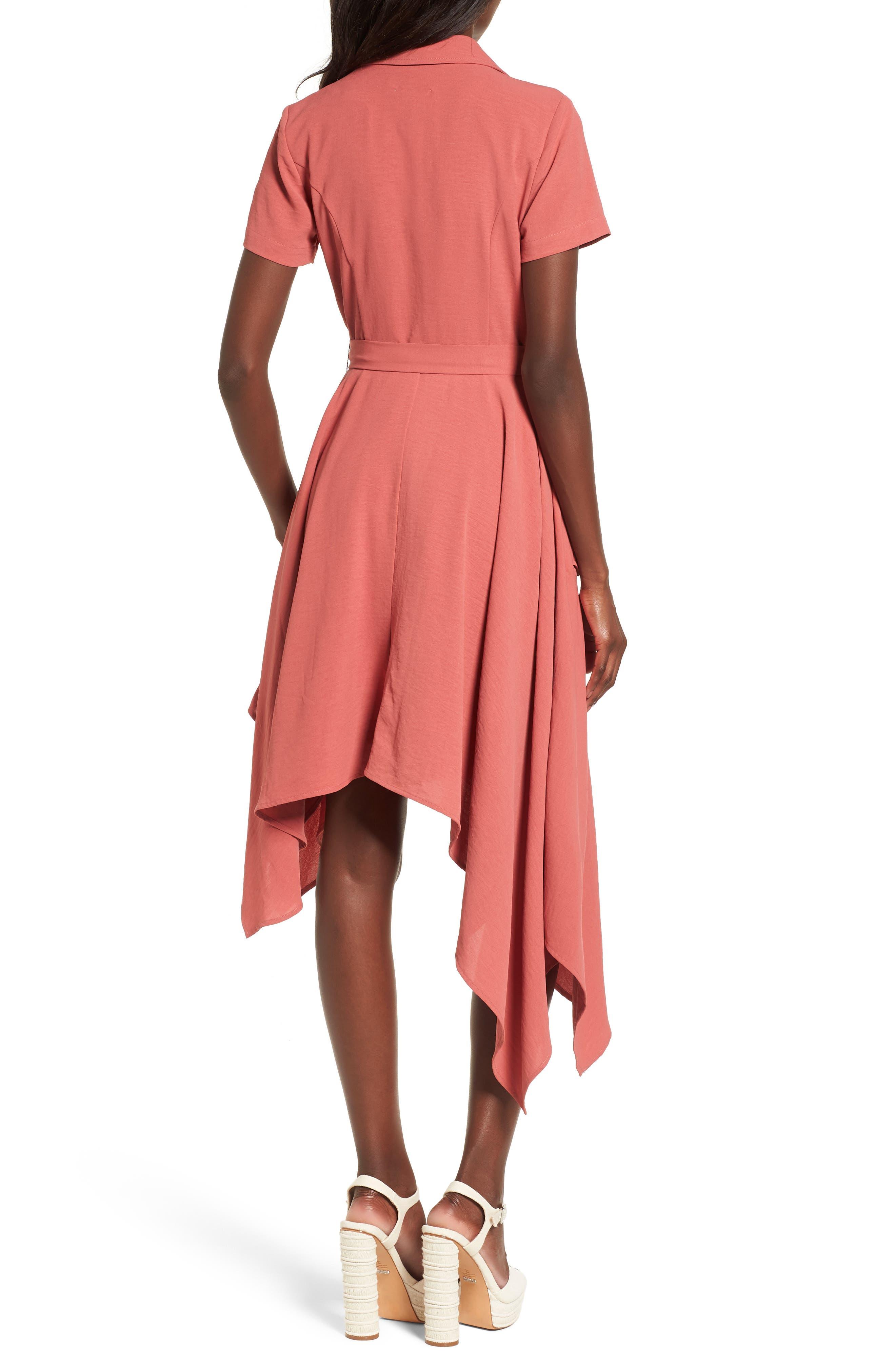 Chriselle x J.O.A. Asymmetrical Trench Dress,                             Alternate thumbnail 4, color,                             Patina