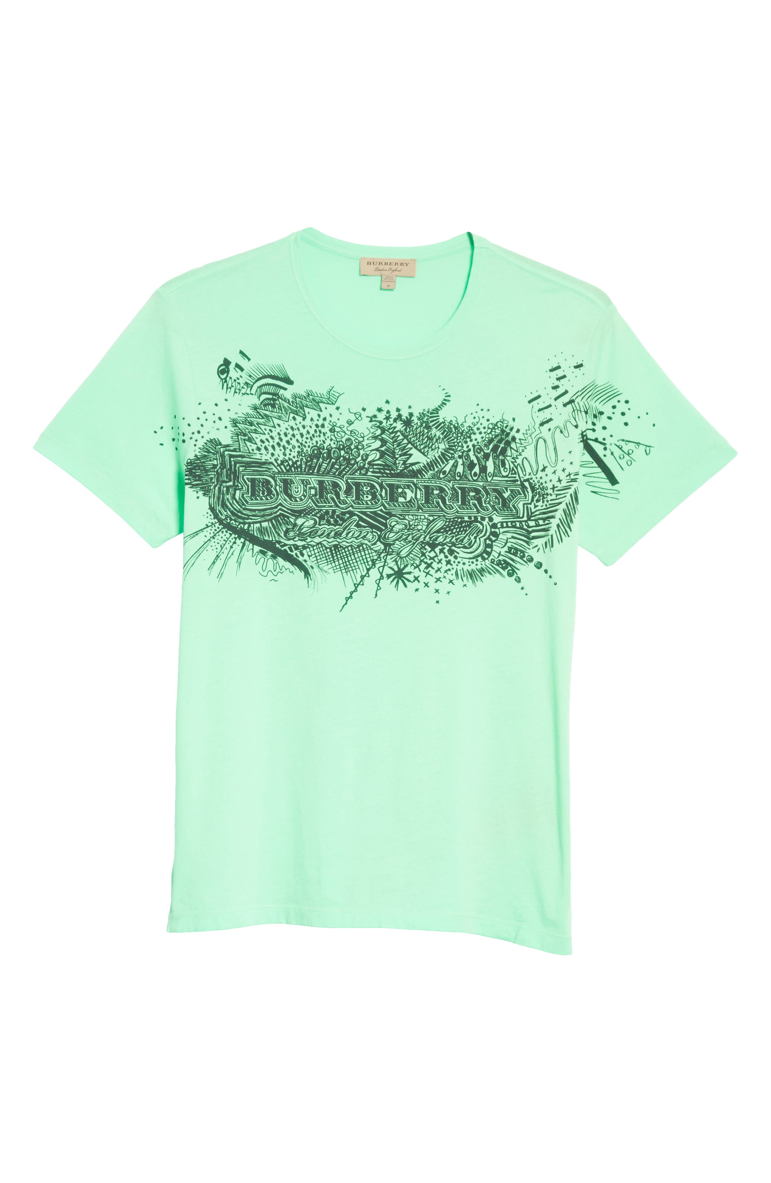 M Biles Standard Fit Graphic Tee,                             Alternate thumbnail 6, color,                             Bright Apple Green