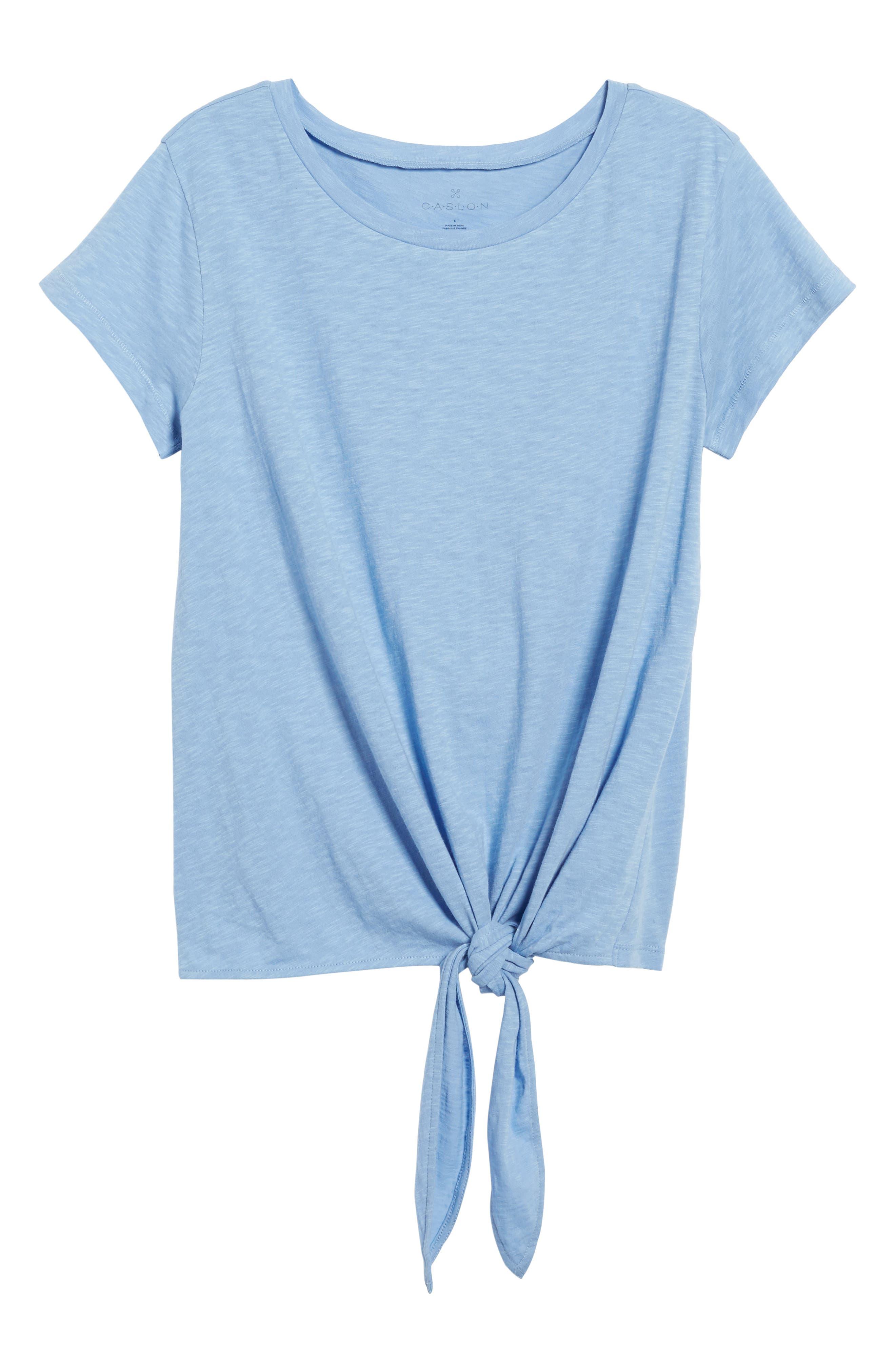Tie Front Tee,                             Alternate thumbnail 7, color,                             Blue Bel Air