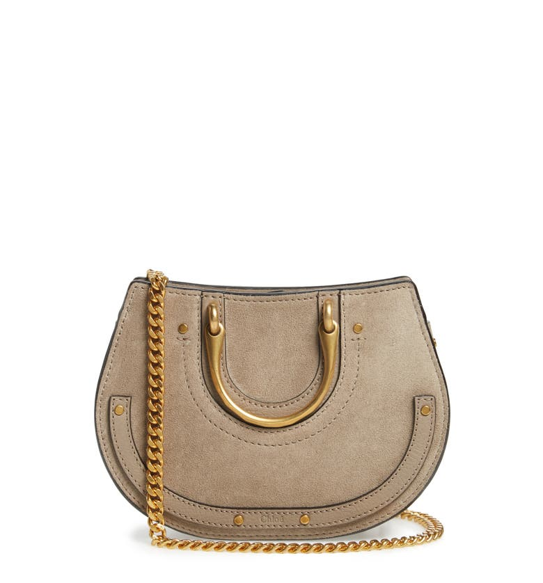 Micro Pixie Leather Top Handle Satchel, Main, color, Motty Grey