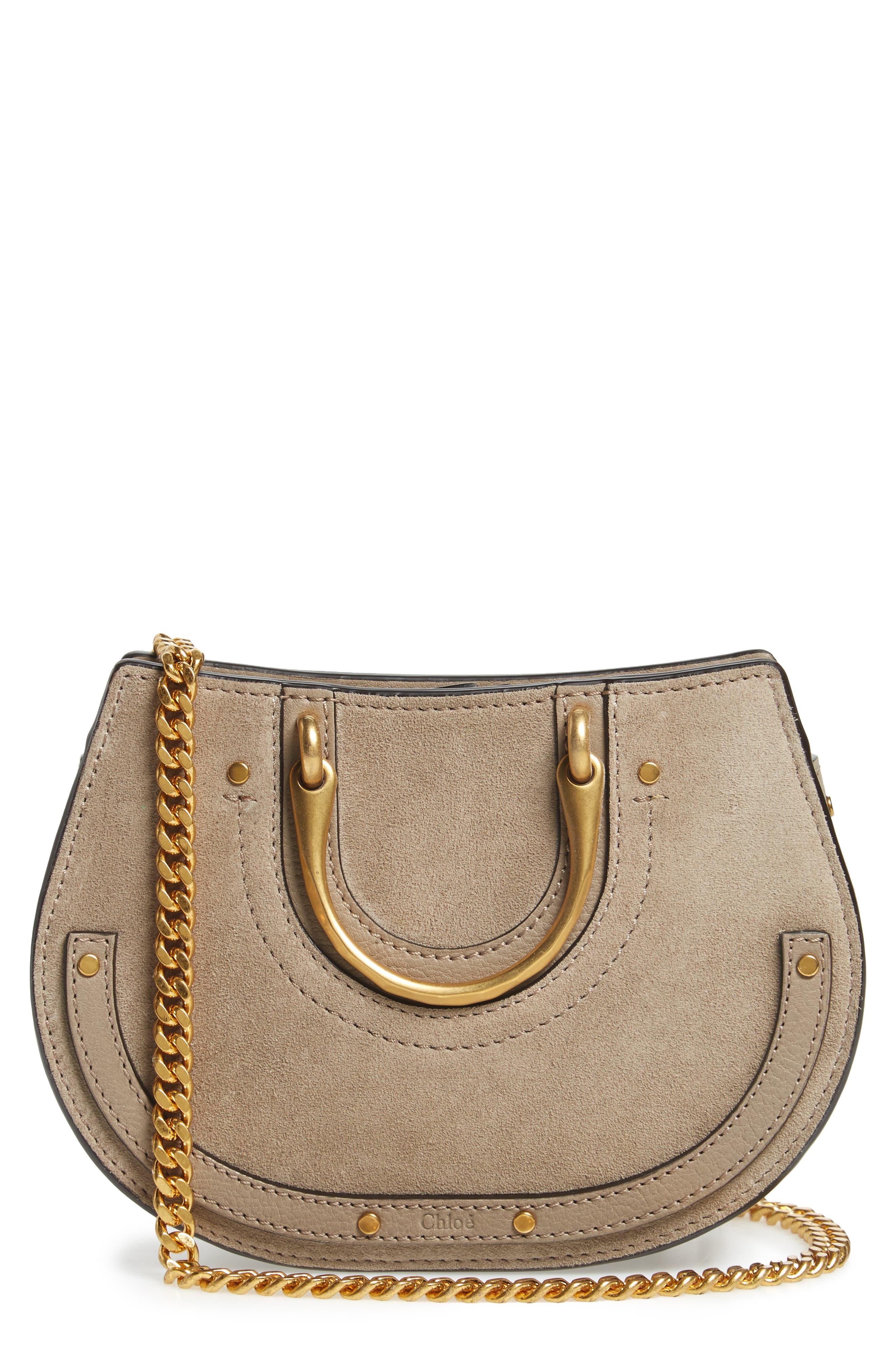 Chloé Micro Pixie Leather Top Handle Satchel
