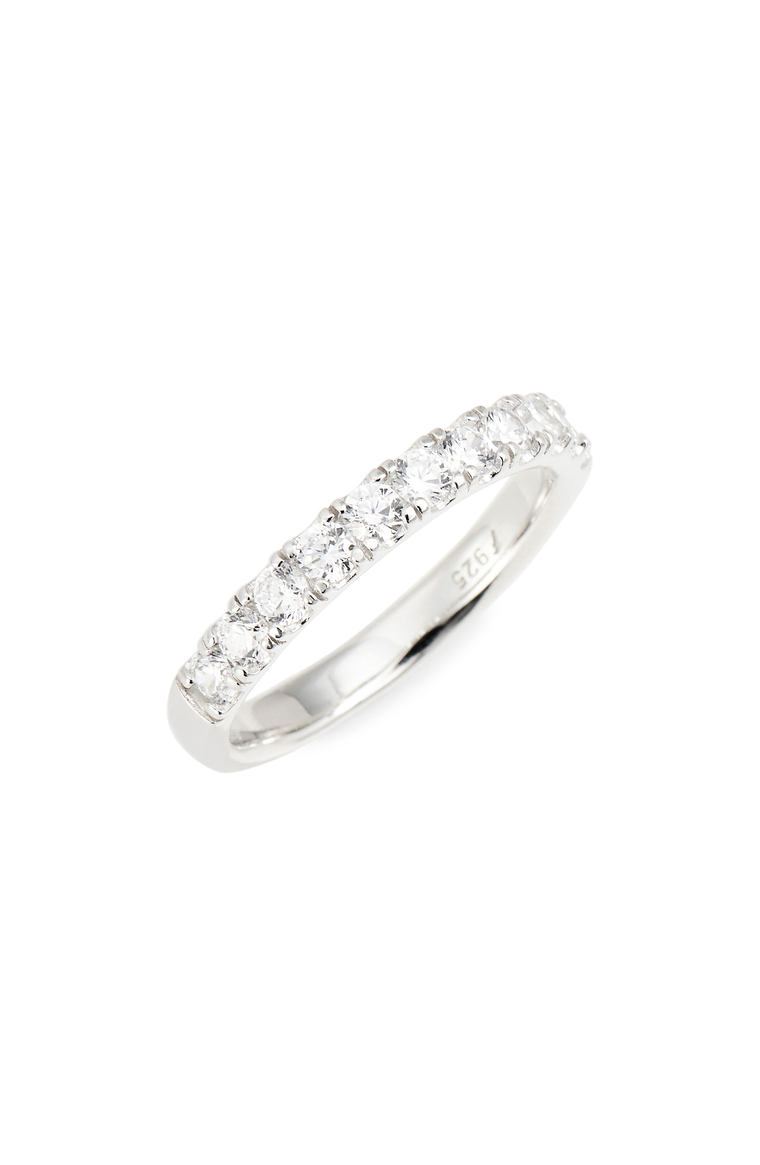 Nordstrom Half Band Cubic Zirconia Ring