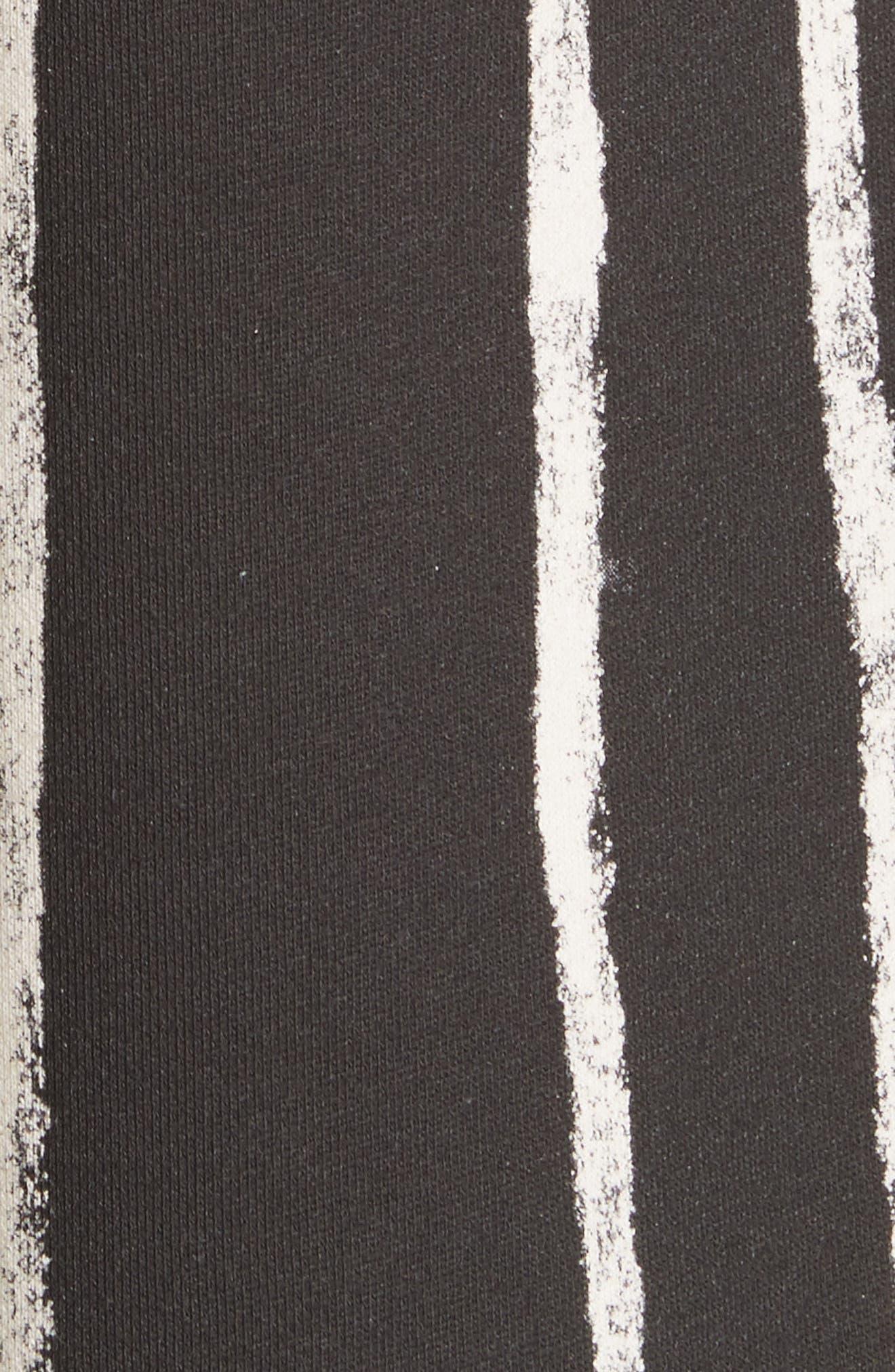 Striped Paint Shorts,                             Alternate thumbnail 5, color,                             Black/ White