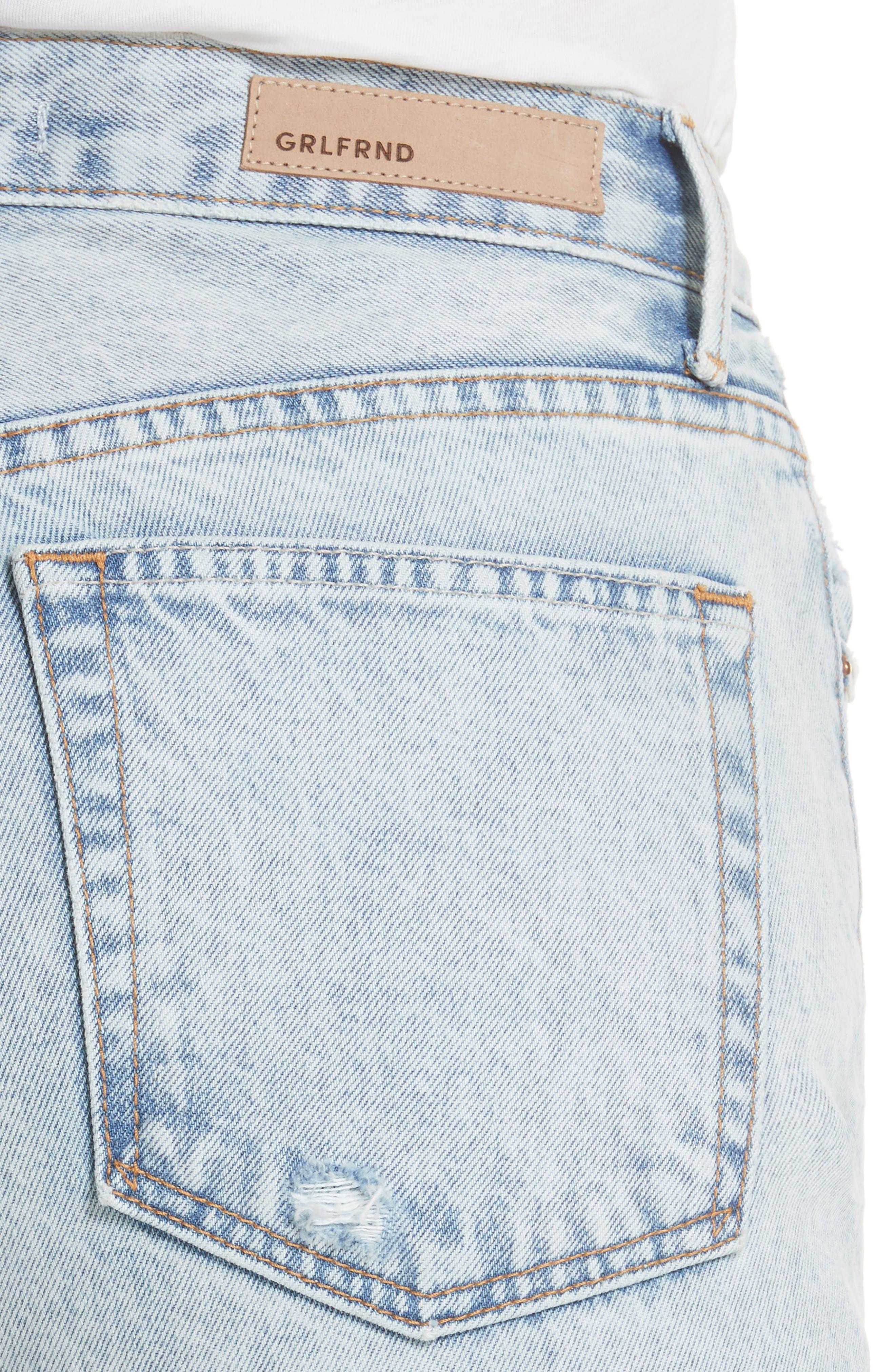 Karolina Ripped Skinny Jeans,                             Alternate thumbnail 4, color,                             Reactive