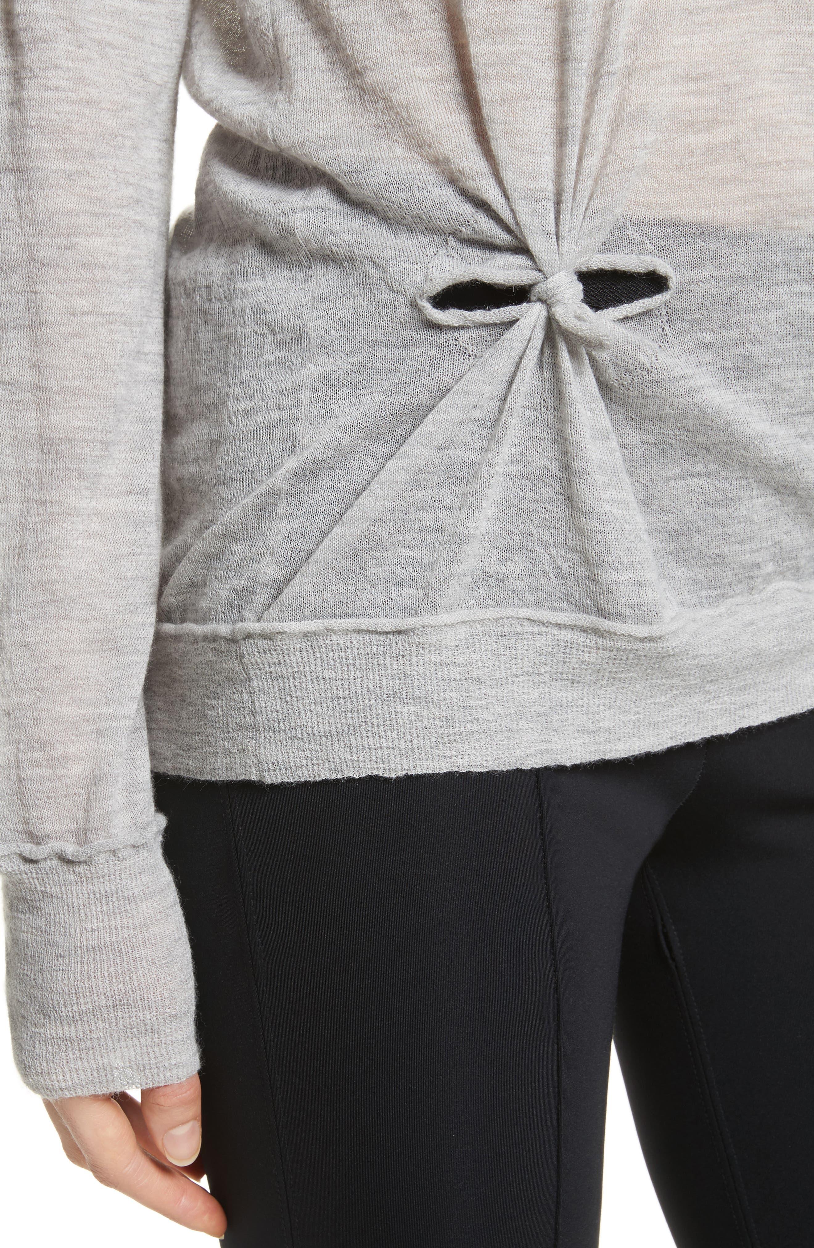 Alternate Image 4  - Helmut Lang Knot Detail Cashmere Sweater