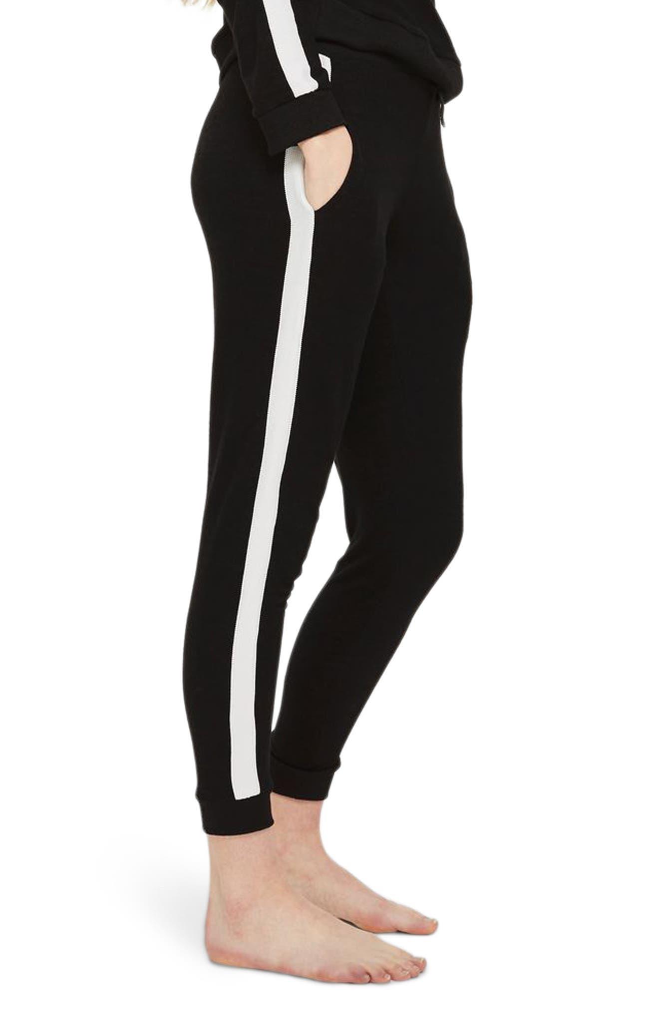 Side Stripe Jogger Pants,                             Main thumbnail 1, color,                             Black Multi
