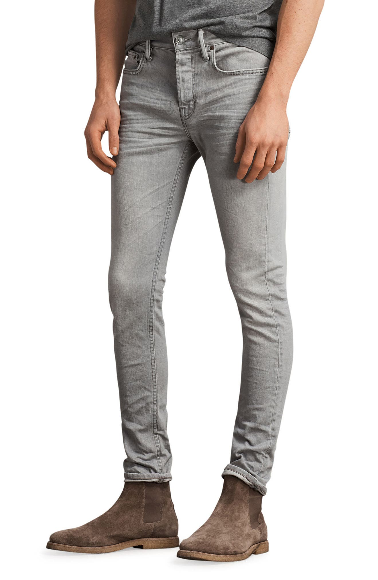 Ghoul Skinny Fit Jeans,                             Main thumbnail 1, color,                             Grey