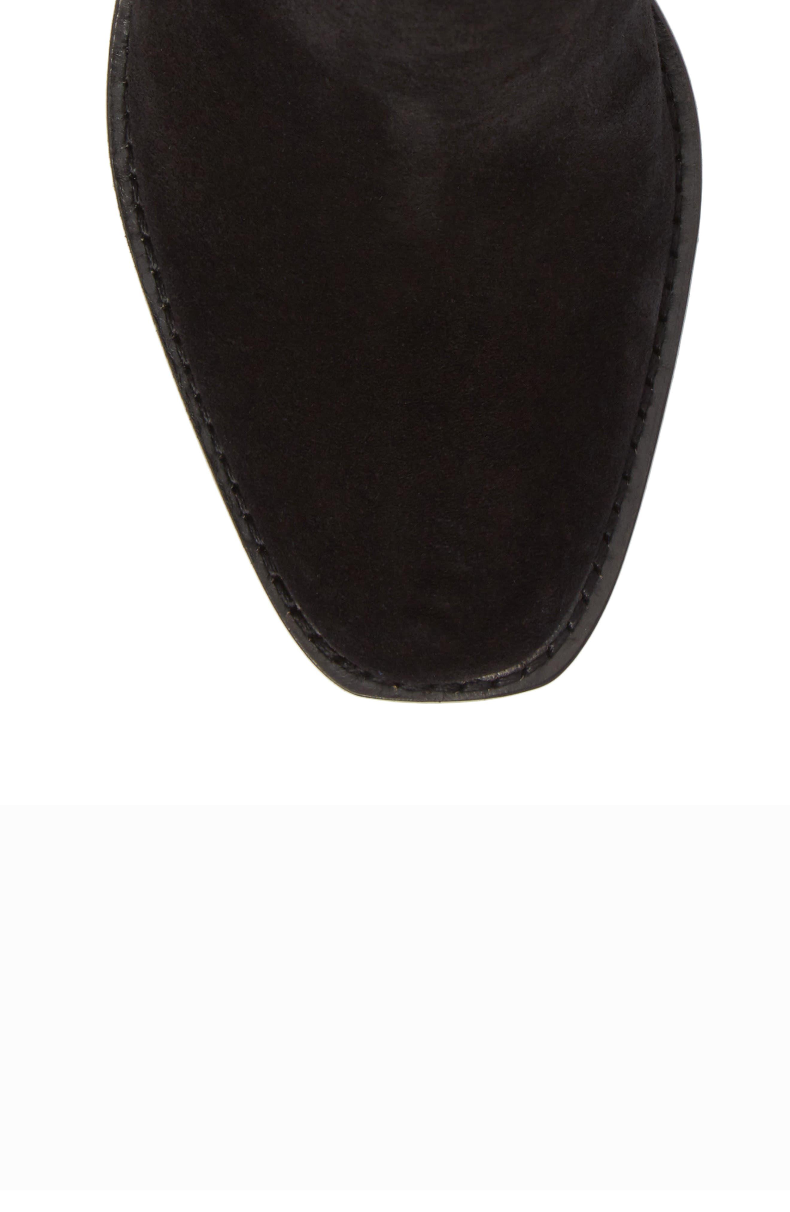 Sedona Chelsea Bootie,                             Alternate thumbnail 5, color,                             Black Suede